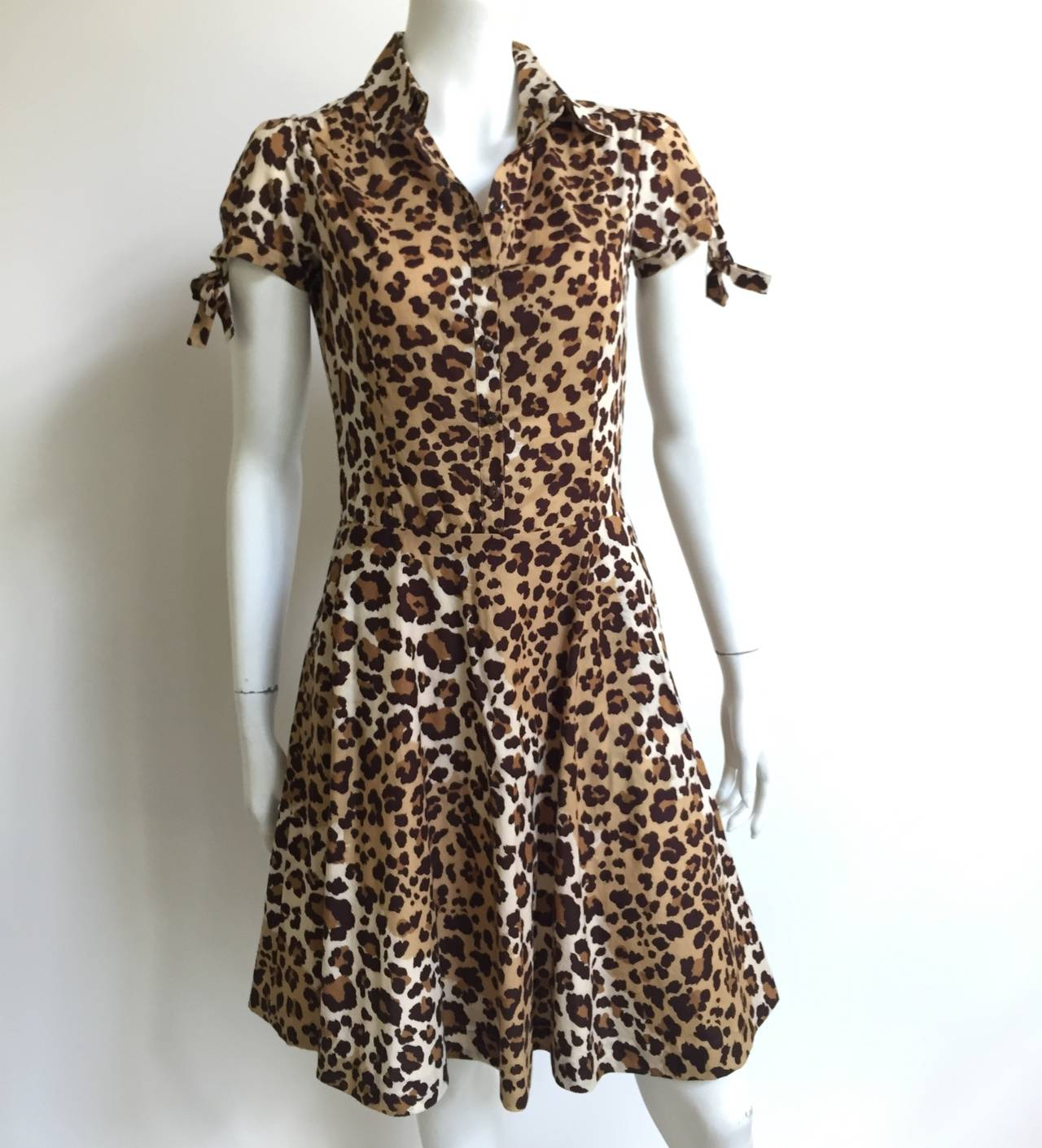 Moschino cheetah print dress with pockets size 6. 10