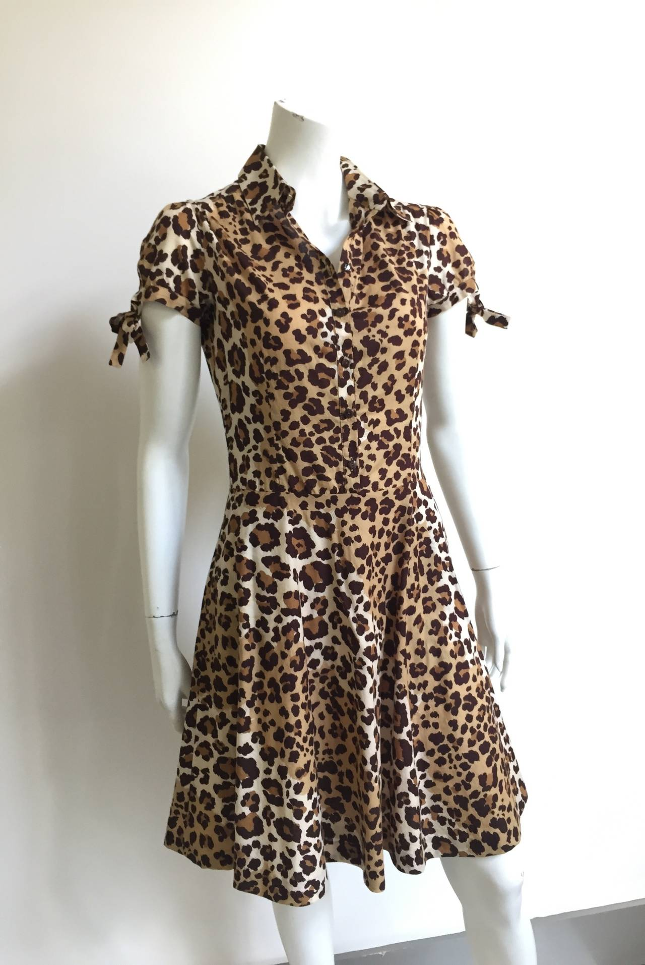 Moschino cheetah print dress with pockets size 6. 2