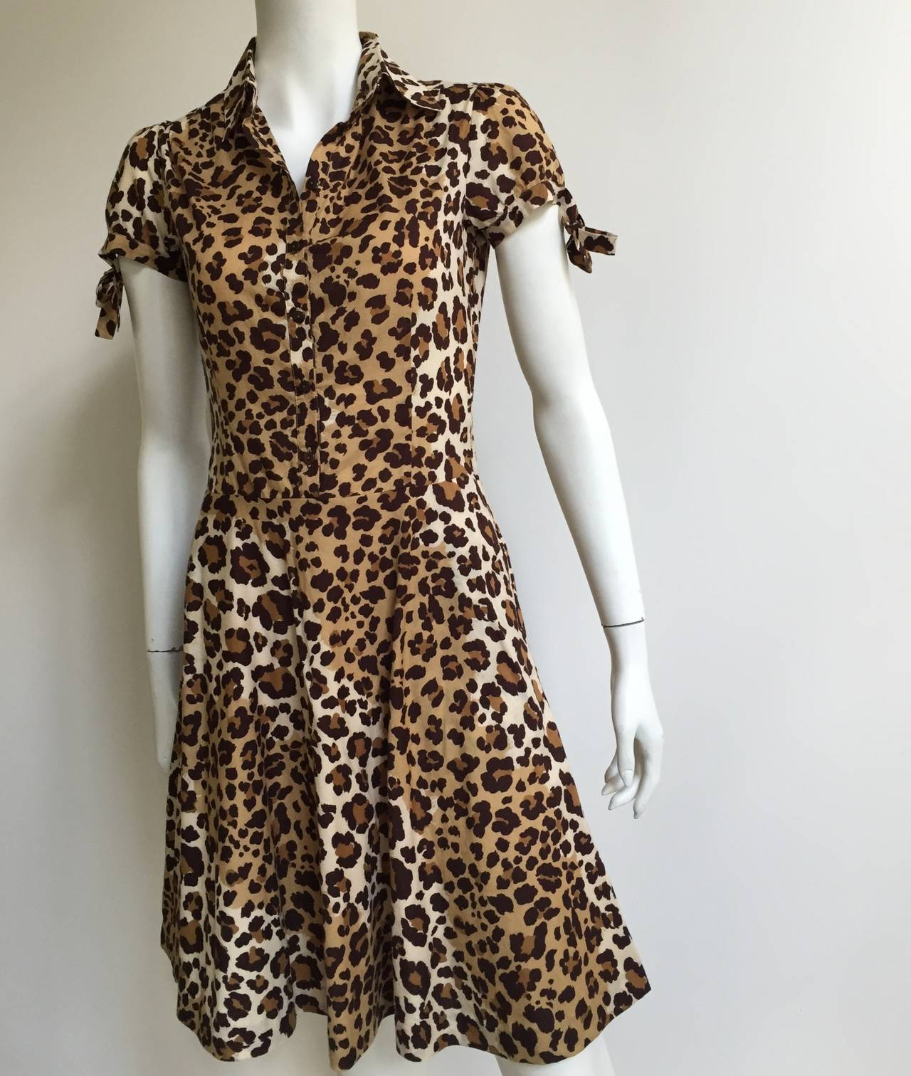 Moschino cheetah print dress with pockets size 6. 3