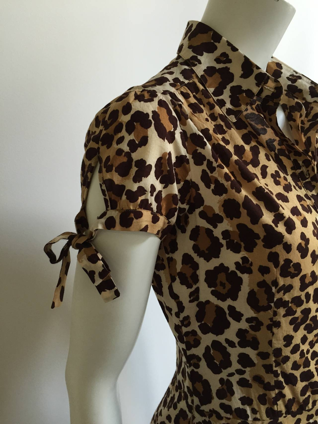 Moschino cheetah print dress with pockets size 6. 5