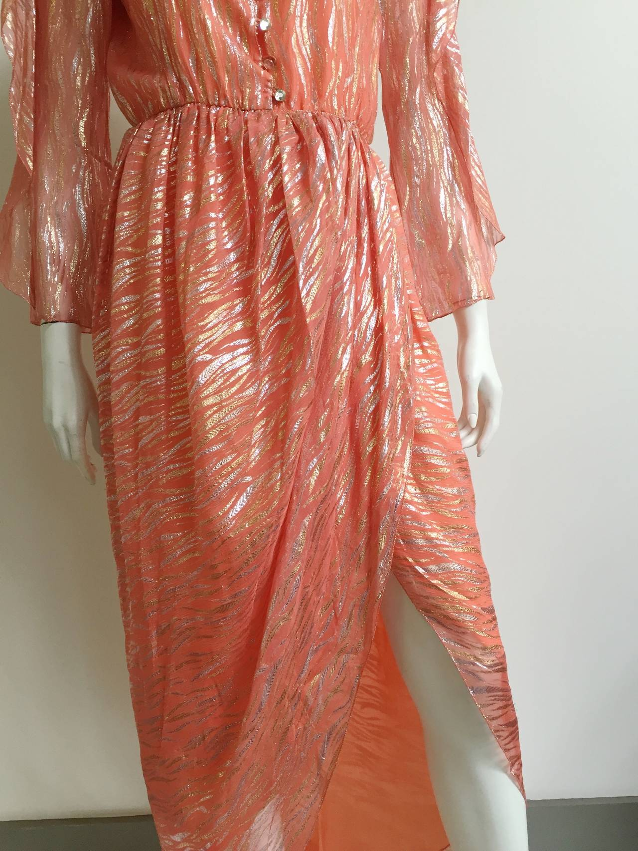 Women's Stephen Burrows wrap dress size 4, 1980s  For Sale