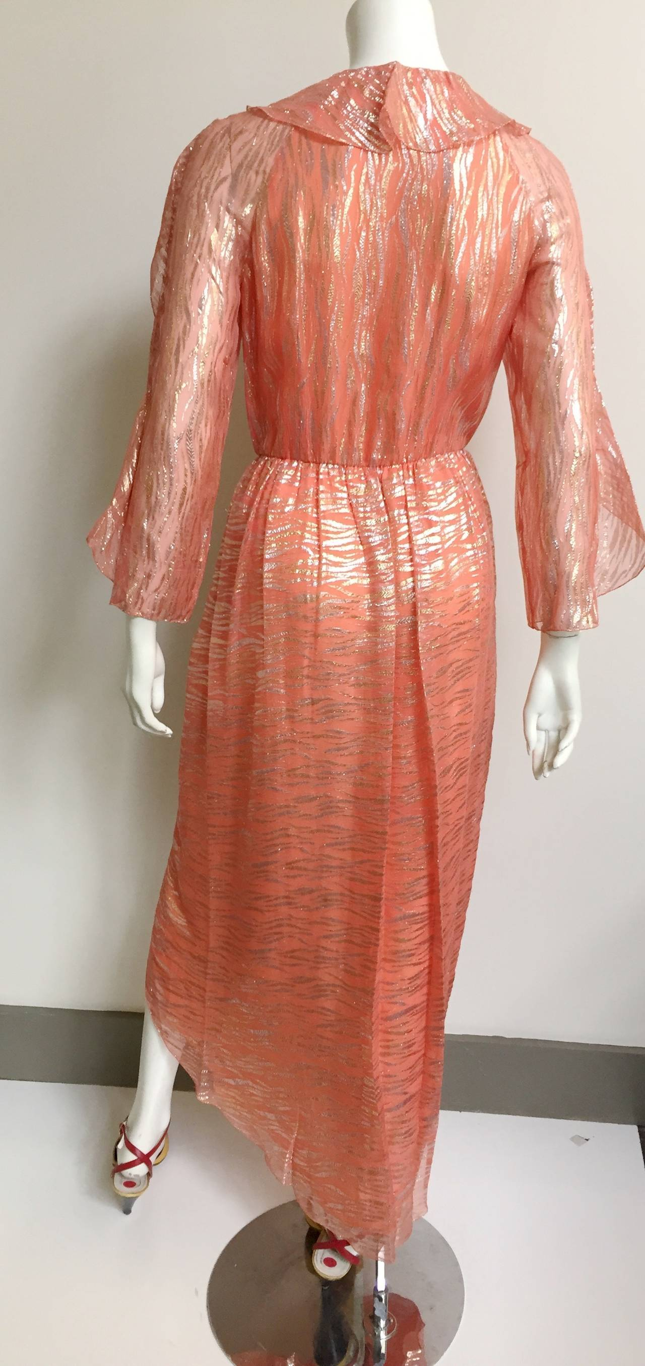 Stephen Burrows wrap dress size 4, 1980s  For Sale 3