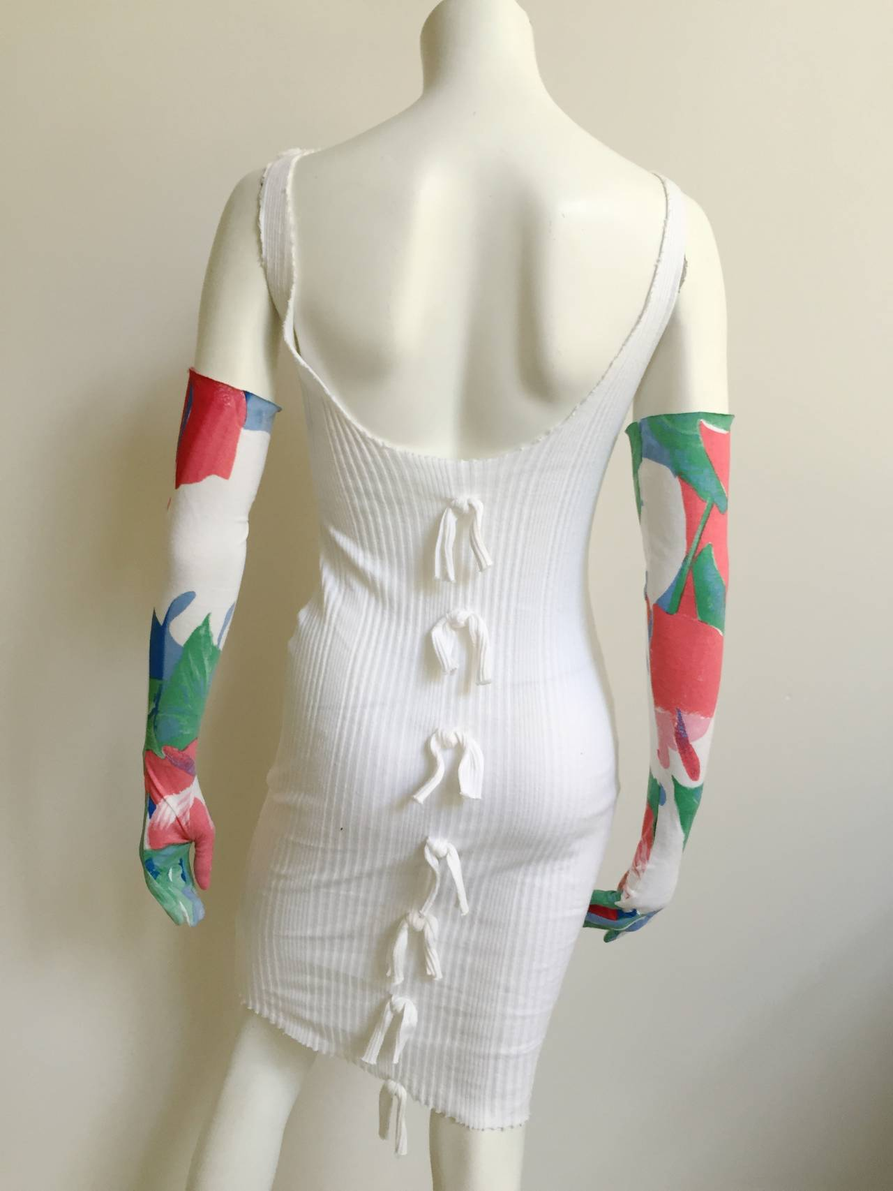 Patrick Kelly 70s ribbed cotton dress with gloves size 4. 3