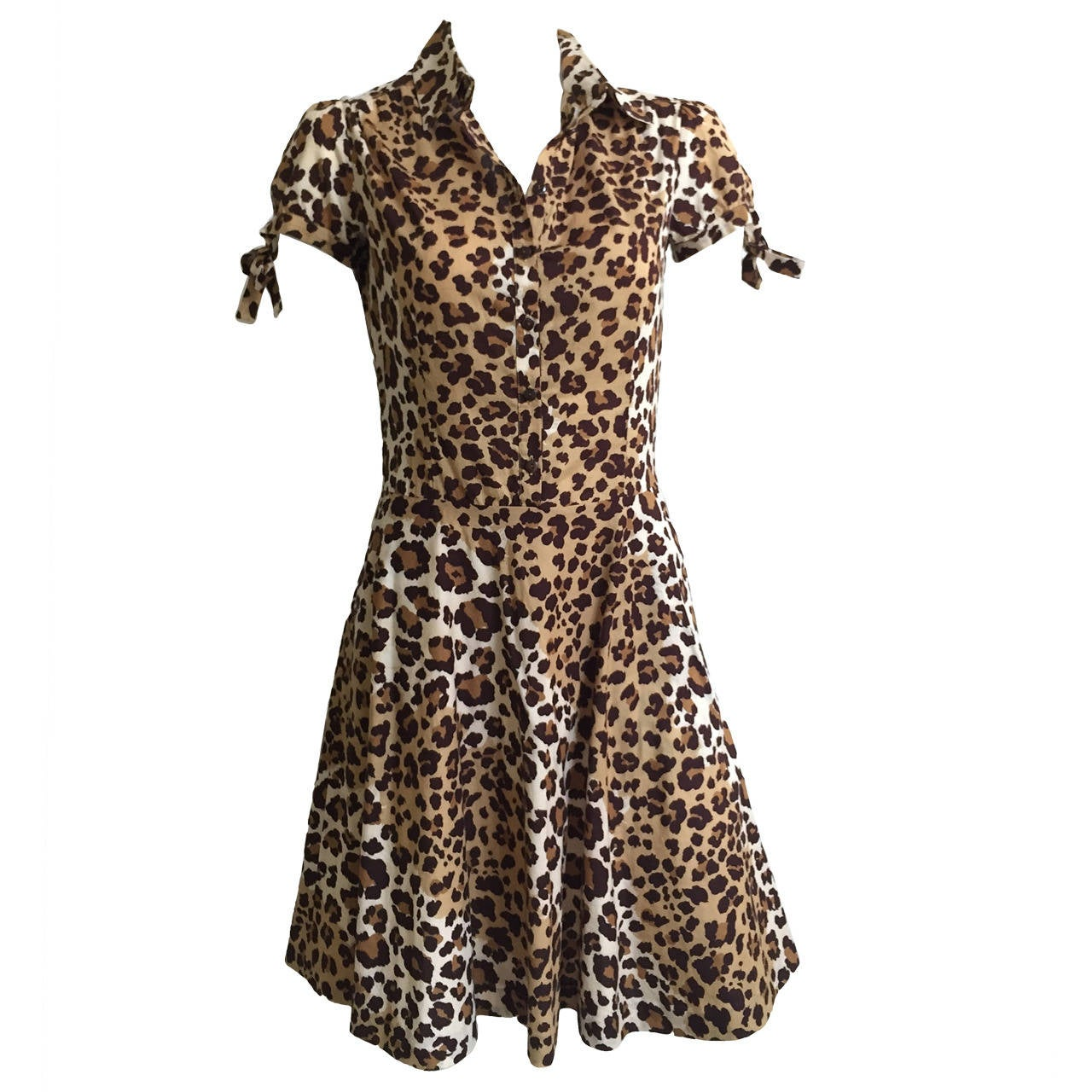 Moschino cheetah print dress with pockets size 6. 1