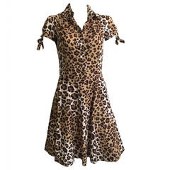 Moschino cheetah print dress with pockets size 6.