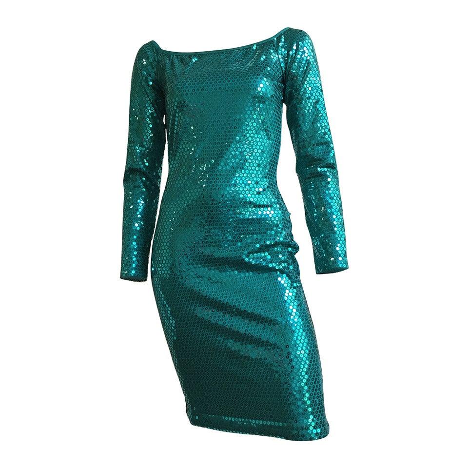 Patrick Kelly Paris Sequin Evening dress Size 4.