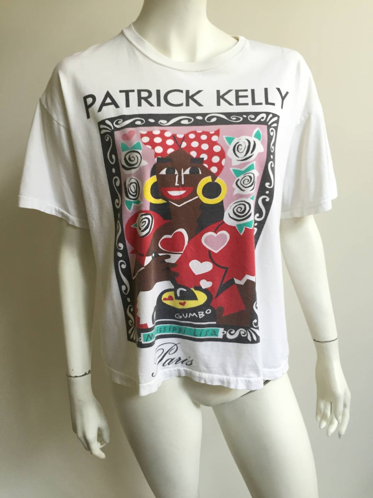 Patrick Kelly 1988 'Mississippi Lisa' t-shirt . 9