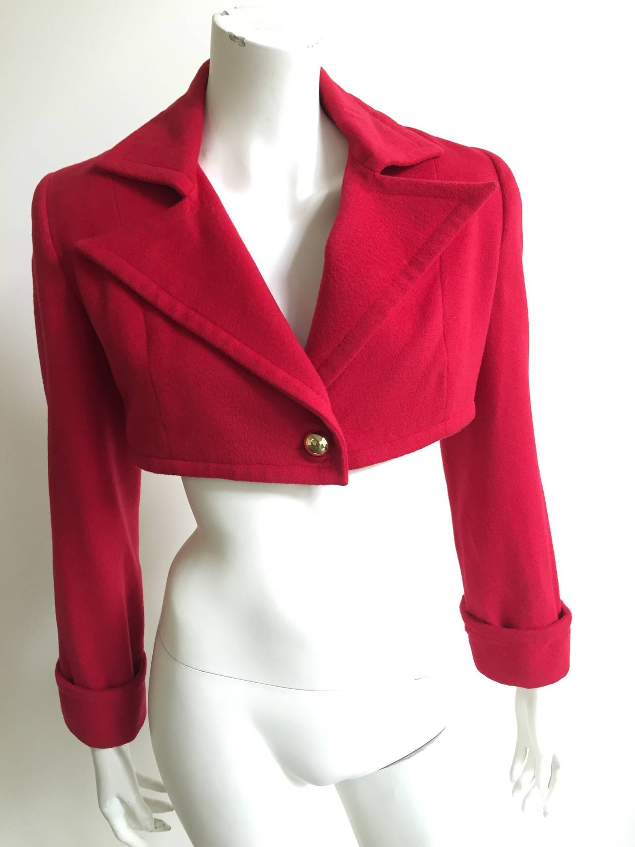 Patrick Kelly Paris 1988 red cropped jacket size 6. 9