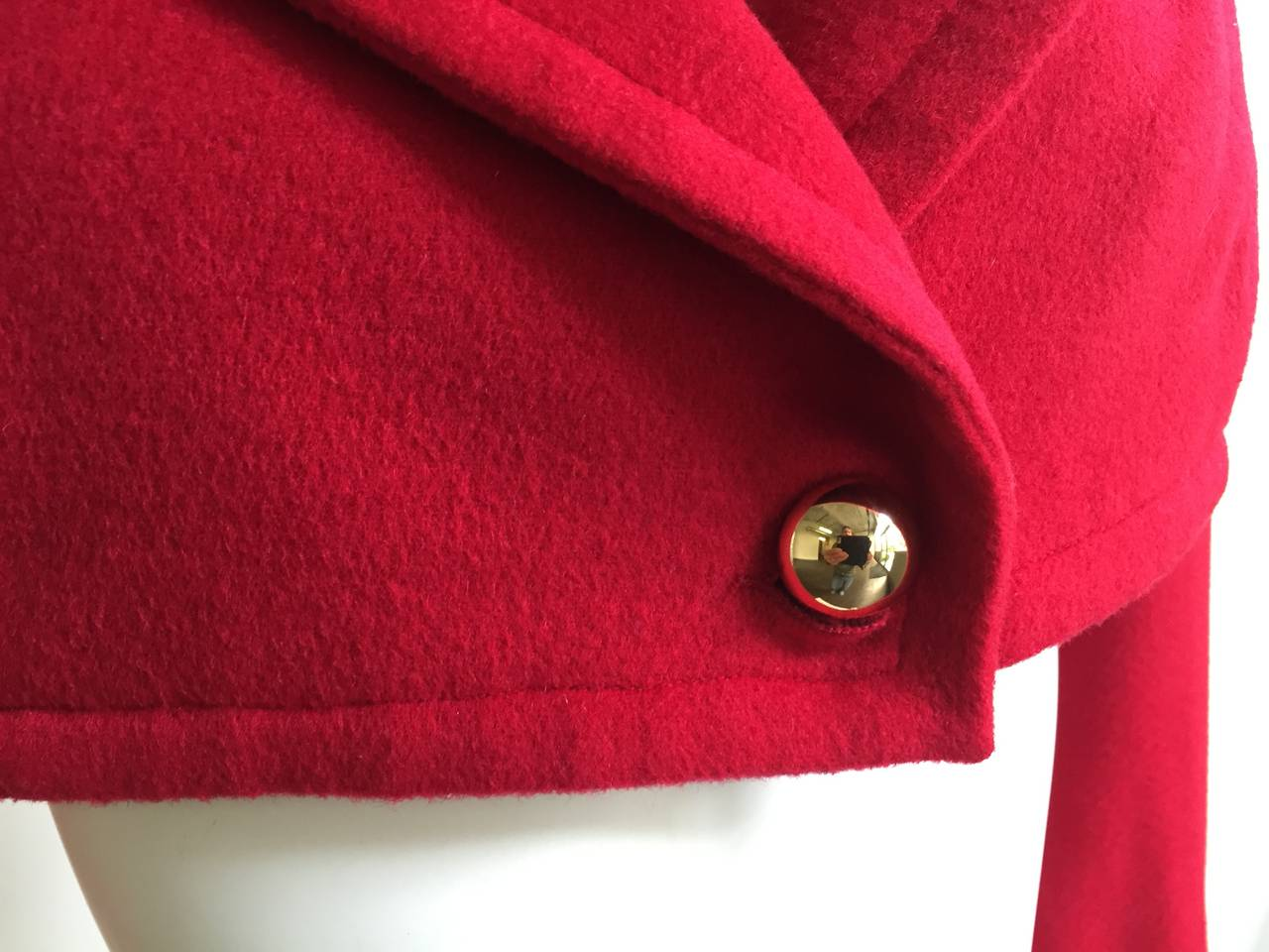 Red Patrick Kelly Paris 1988 red cropped jacket size 6. For Sale