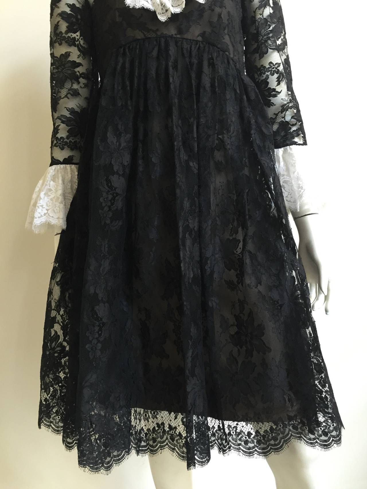 Bill Blass 60s Lace Cocktail Evening Dress Size 6. 3