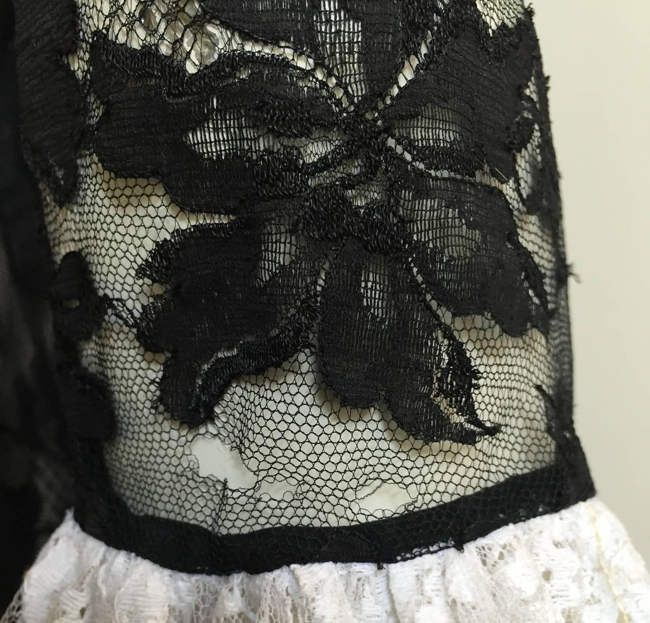 Bill Blass 60s Lace Cocktail Evening Dress Size 6. 7