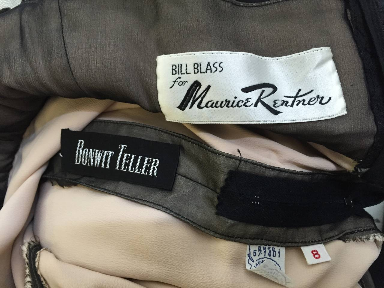 Bill Blass 60s Lace Cocktail Evening Dress Size 6. 10