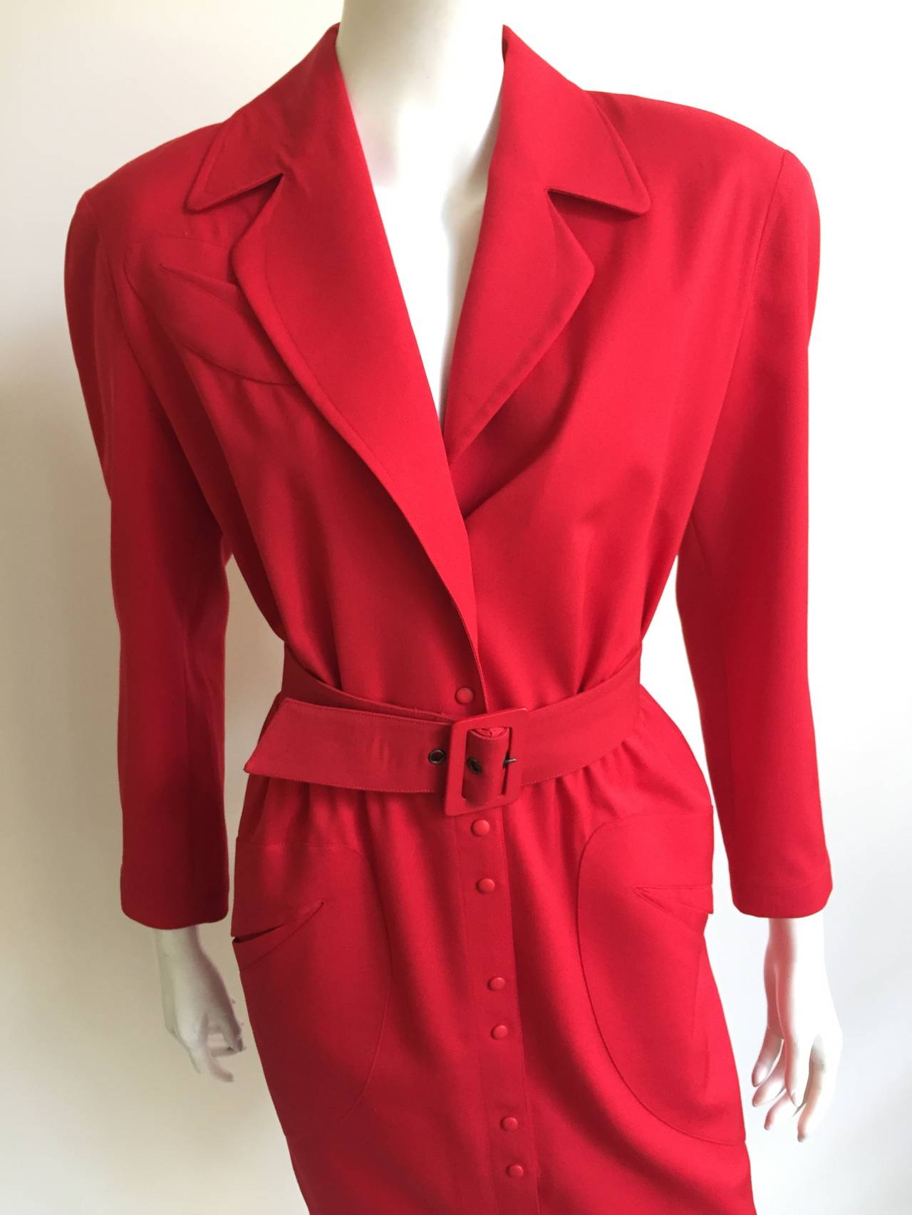Thierry Mugler 80s Dress With Pockets Size 6. 2