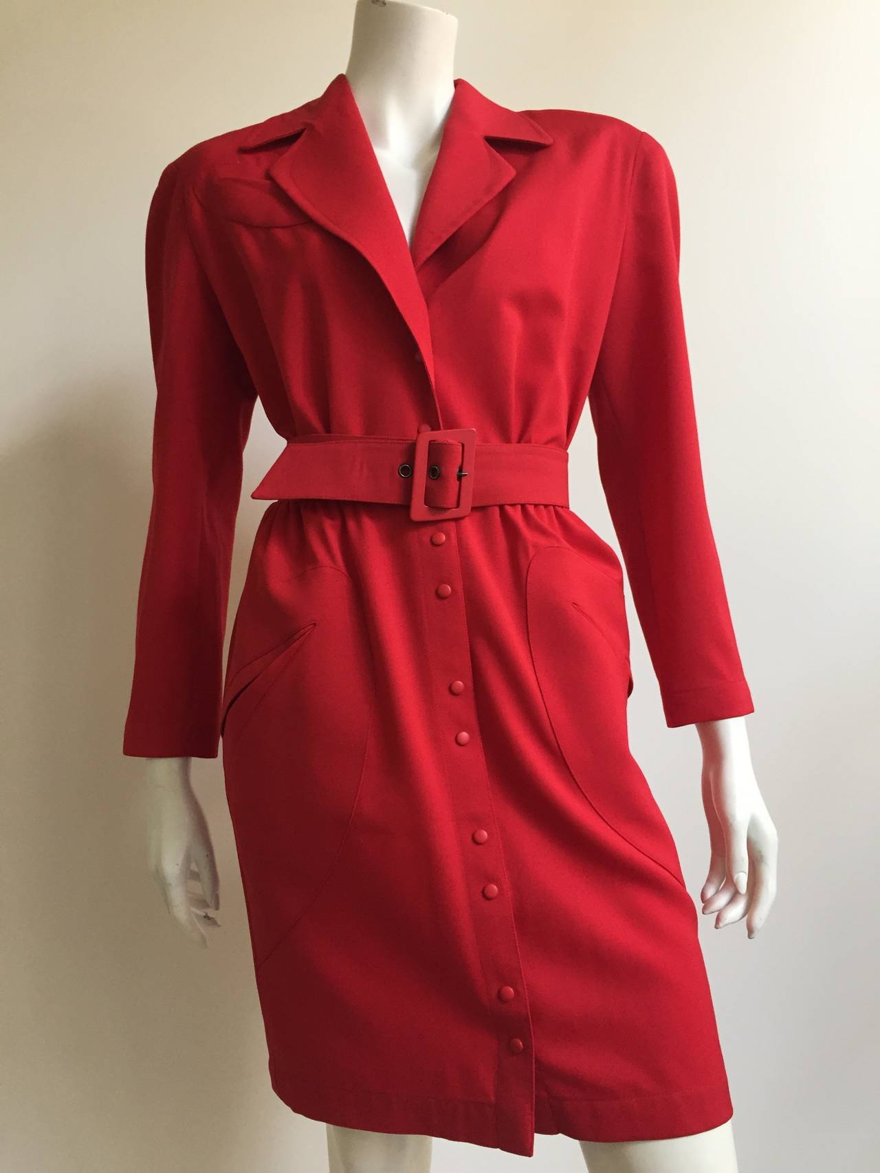 Thierry Mugler 80s Dress With Pockets Size 6. 4