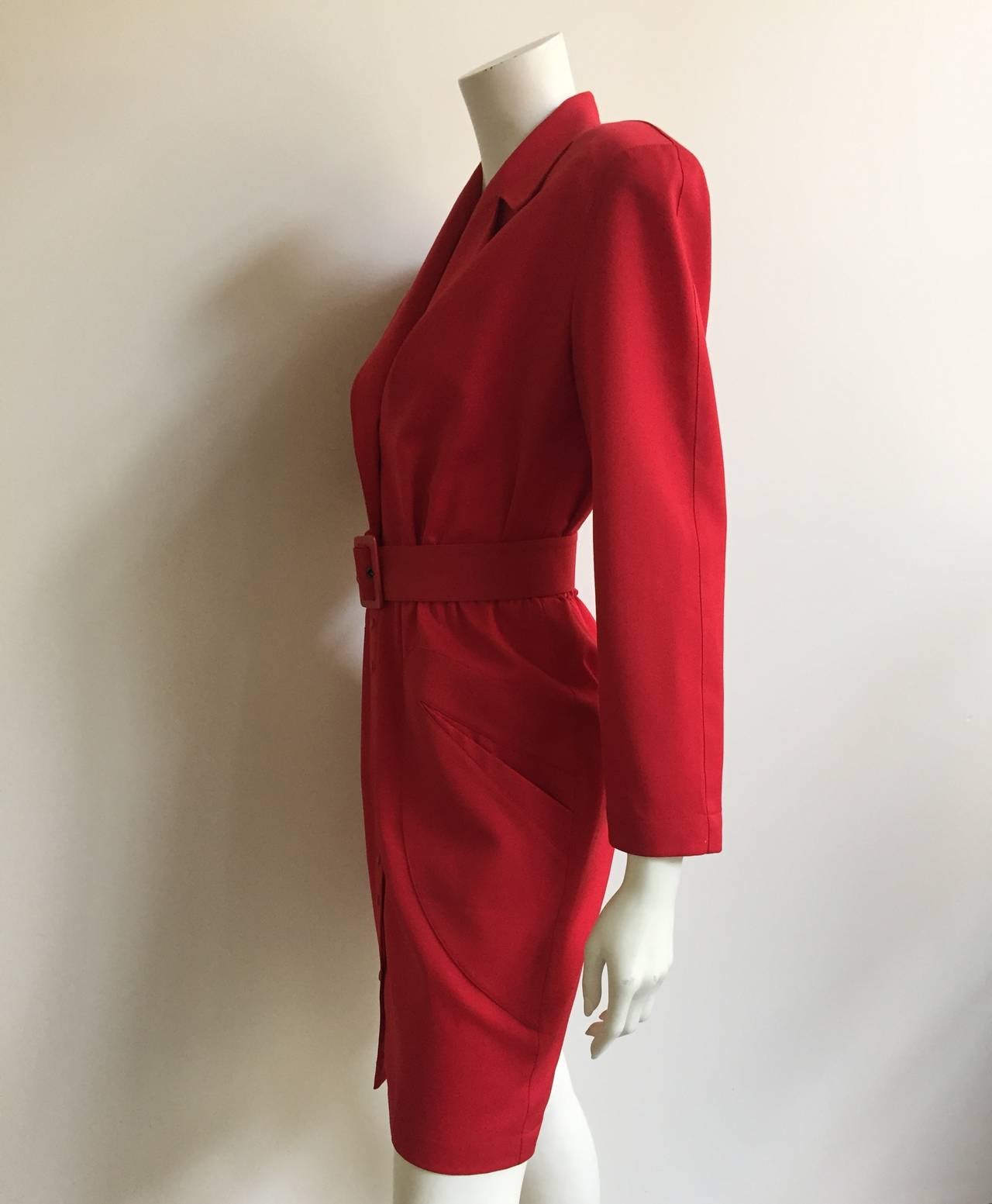 Thierry Mugler 80s Dress With Pockets Size 6. 5
