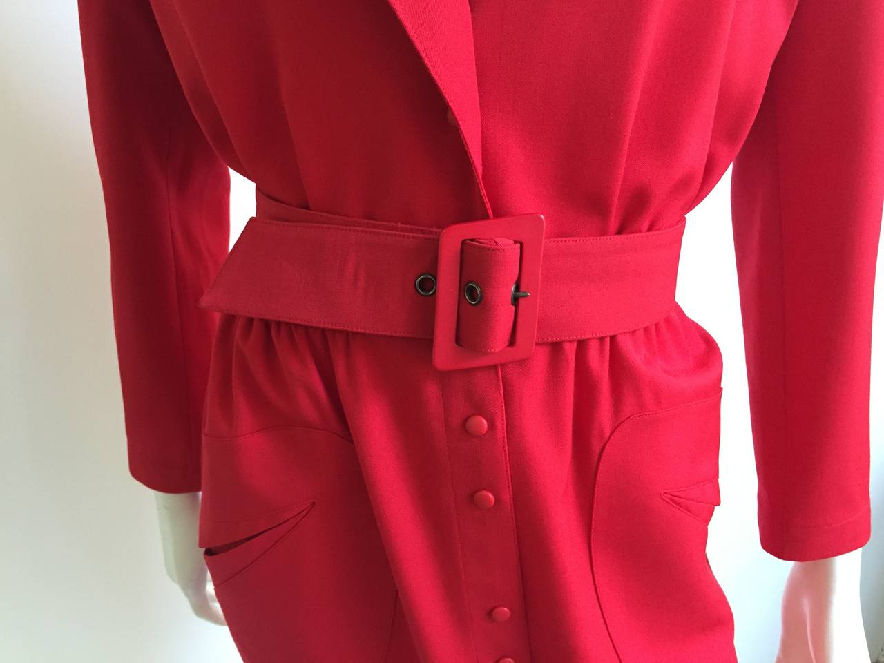 Thierry Mugler 80s Dress With Pockets Size 6. 7
