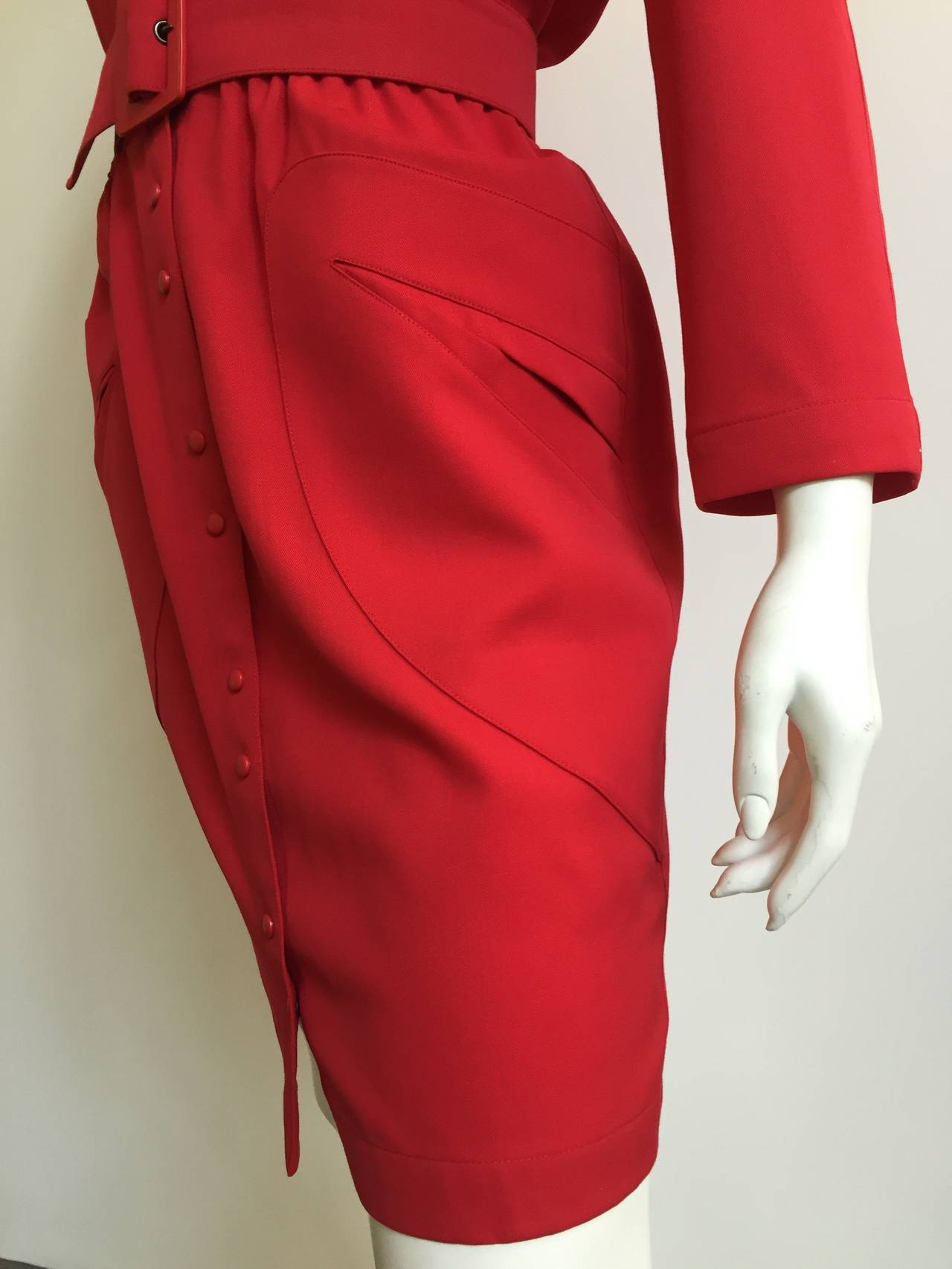 Thierry Mugler 80s Dress With Pockets Size 6. 9