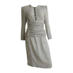 Adele Simpson 80s Silk Dress Size 6.