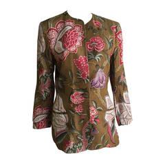 Gloria Sachs for Bergdorf Goodman Cotton Jacket Size 6.