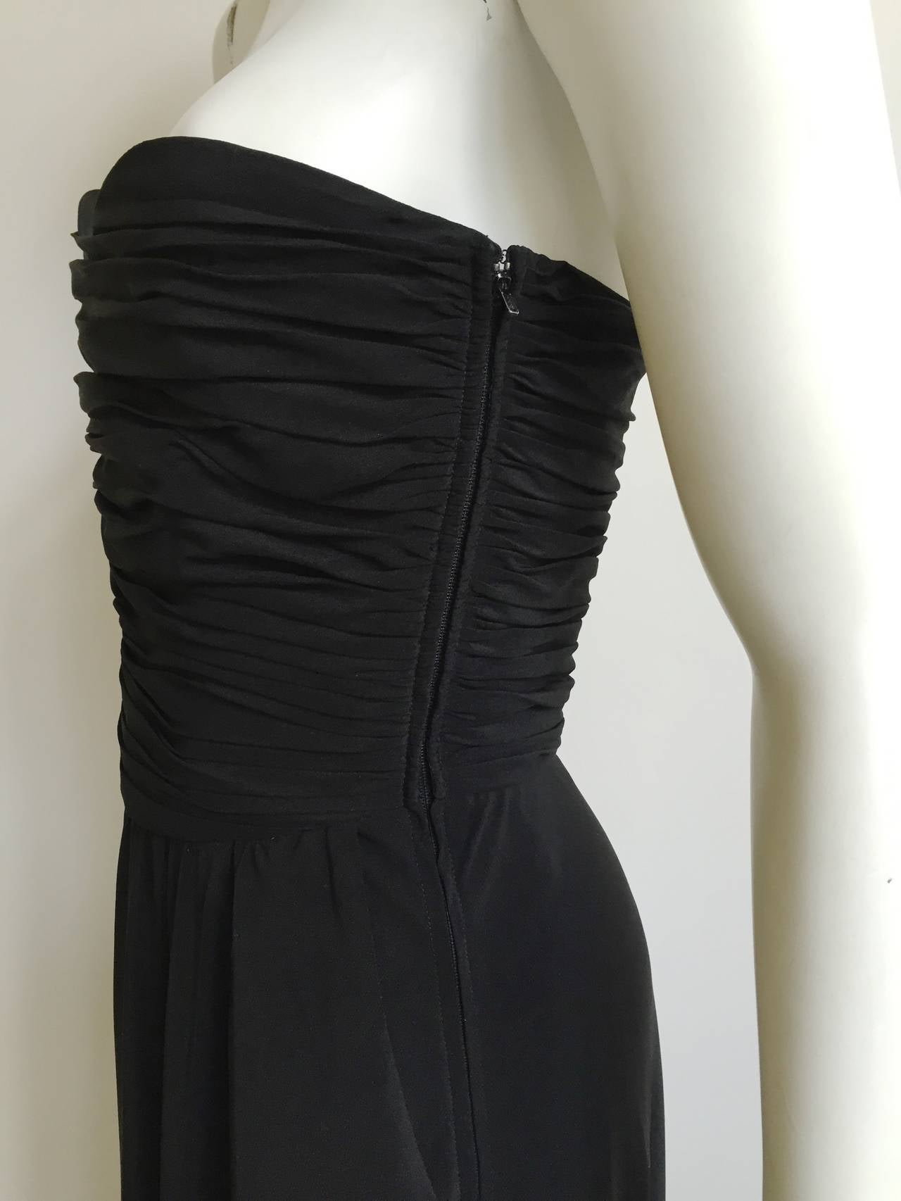 292ad7daf23f Black Strapless Cocktail Dress With Pockets   Saddha