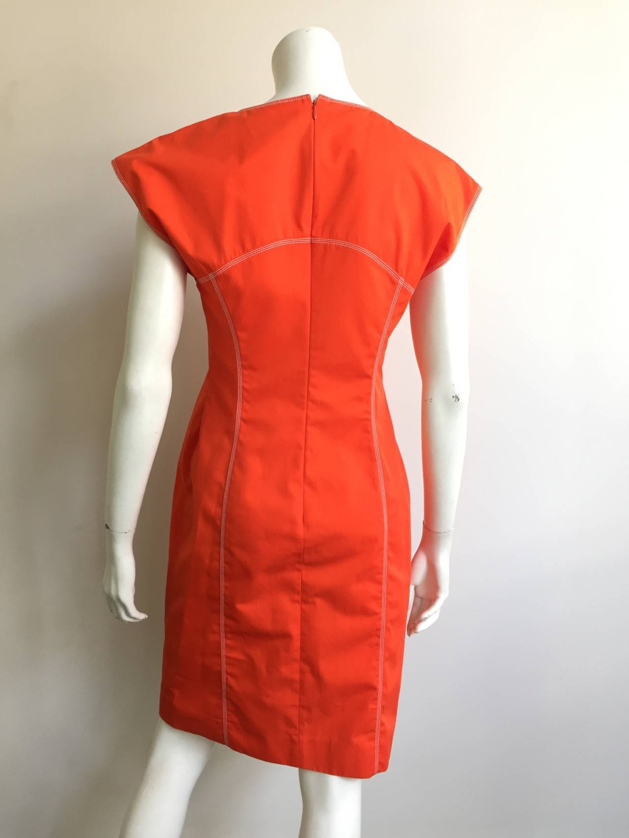 Courreges Paris Dress With Pockets Size 8, 1980s For Sale 2