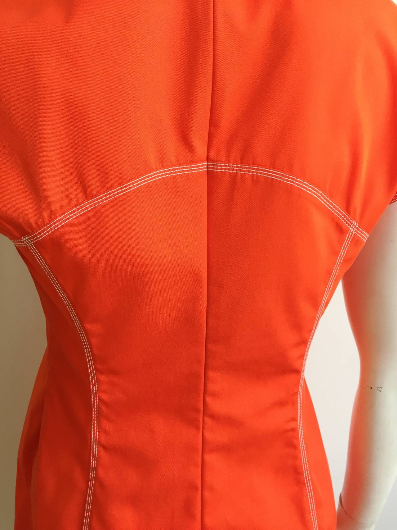 Courreges Paris Dress With Pockets Size 8, 1980s For Sale 3