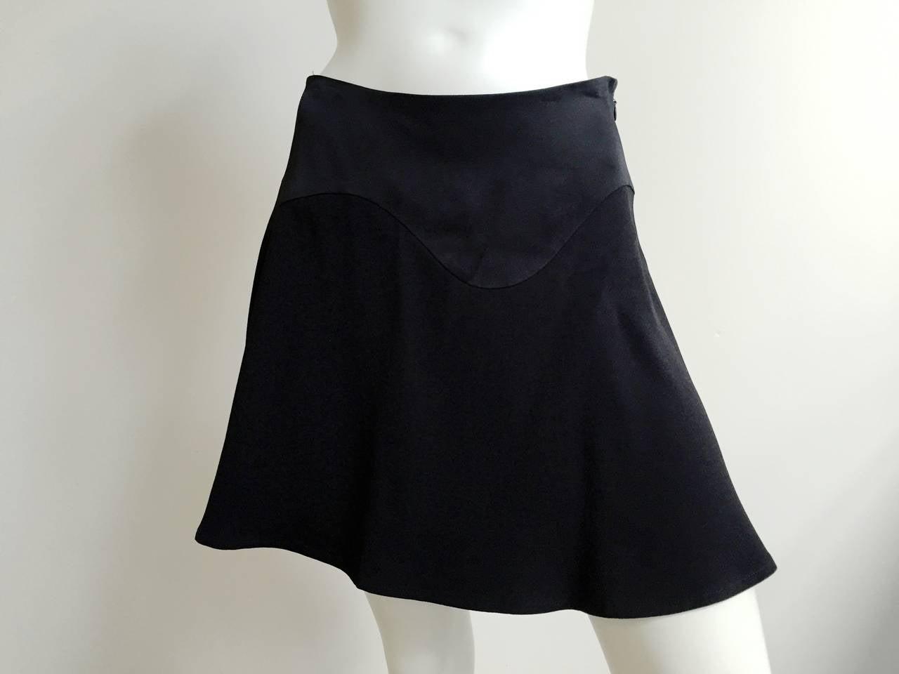 Moschino Black Short Skirt Size 6. 2