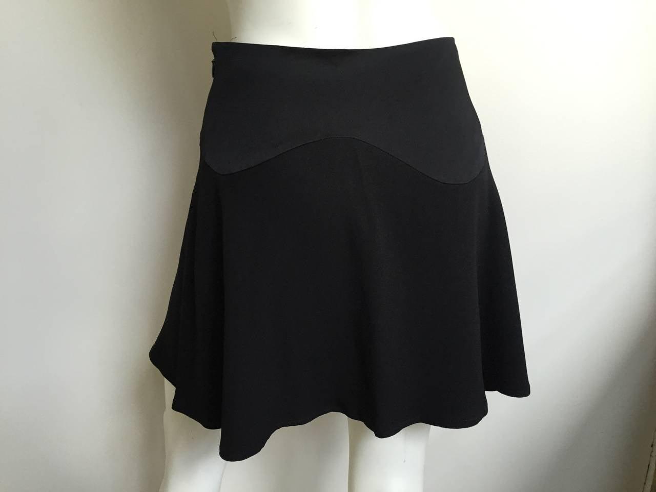 Moschino Black Short Skirt Size 6. 5