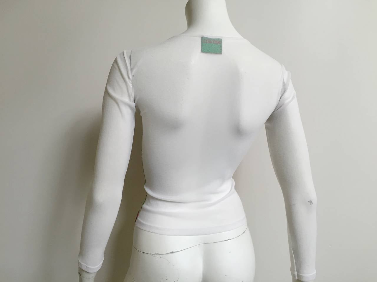 Kenzo Jungle Asian sheer long sleeve top size small. 6