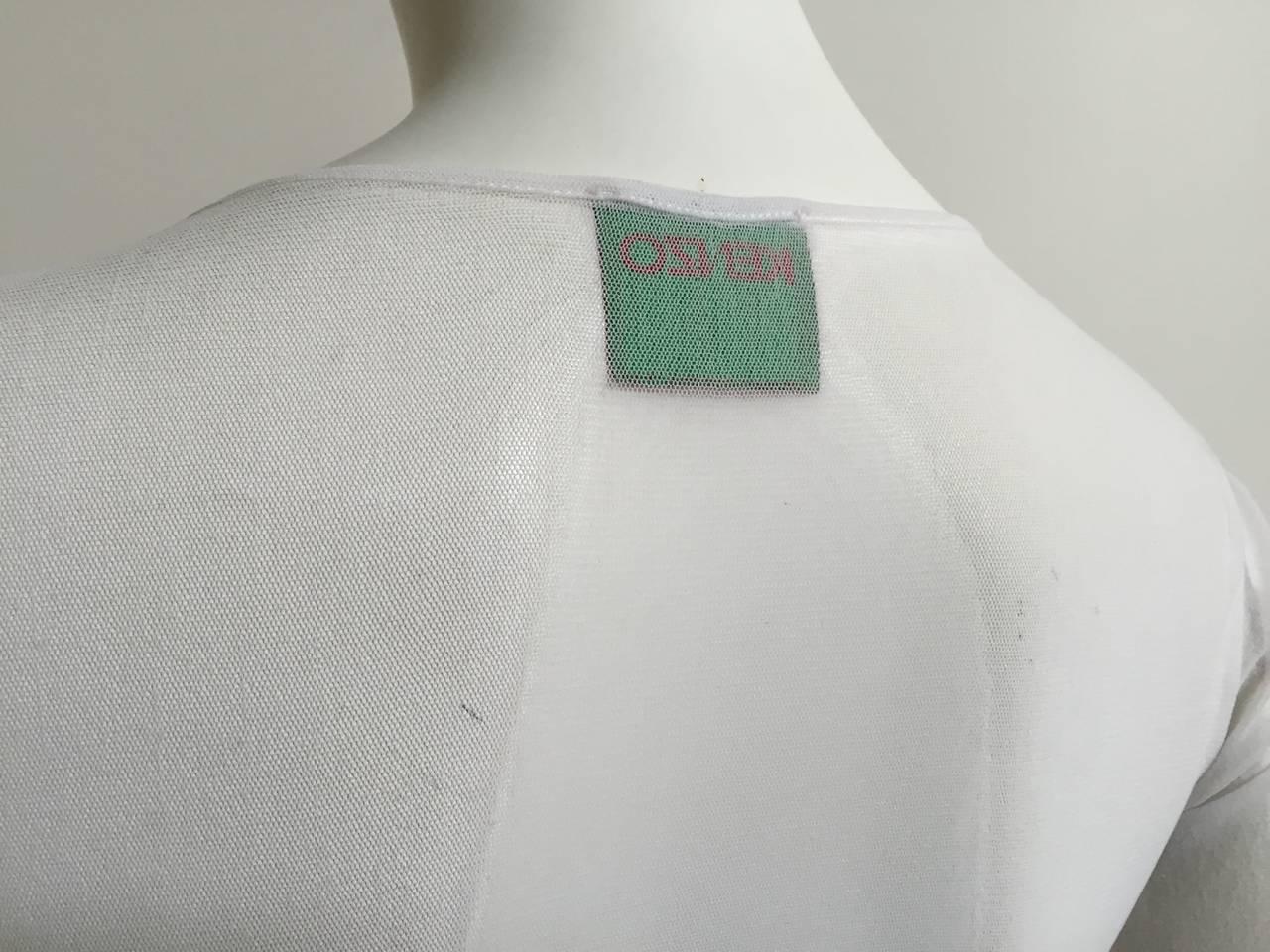 Kenzo Jungle Asian sheer long sleeve top size small. 7