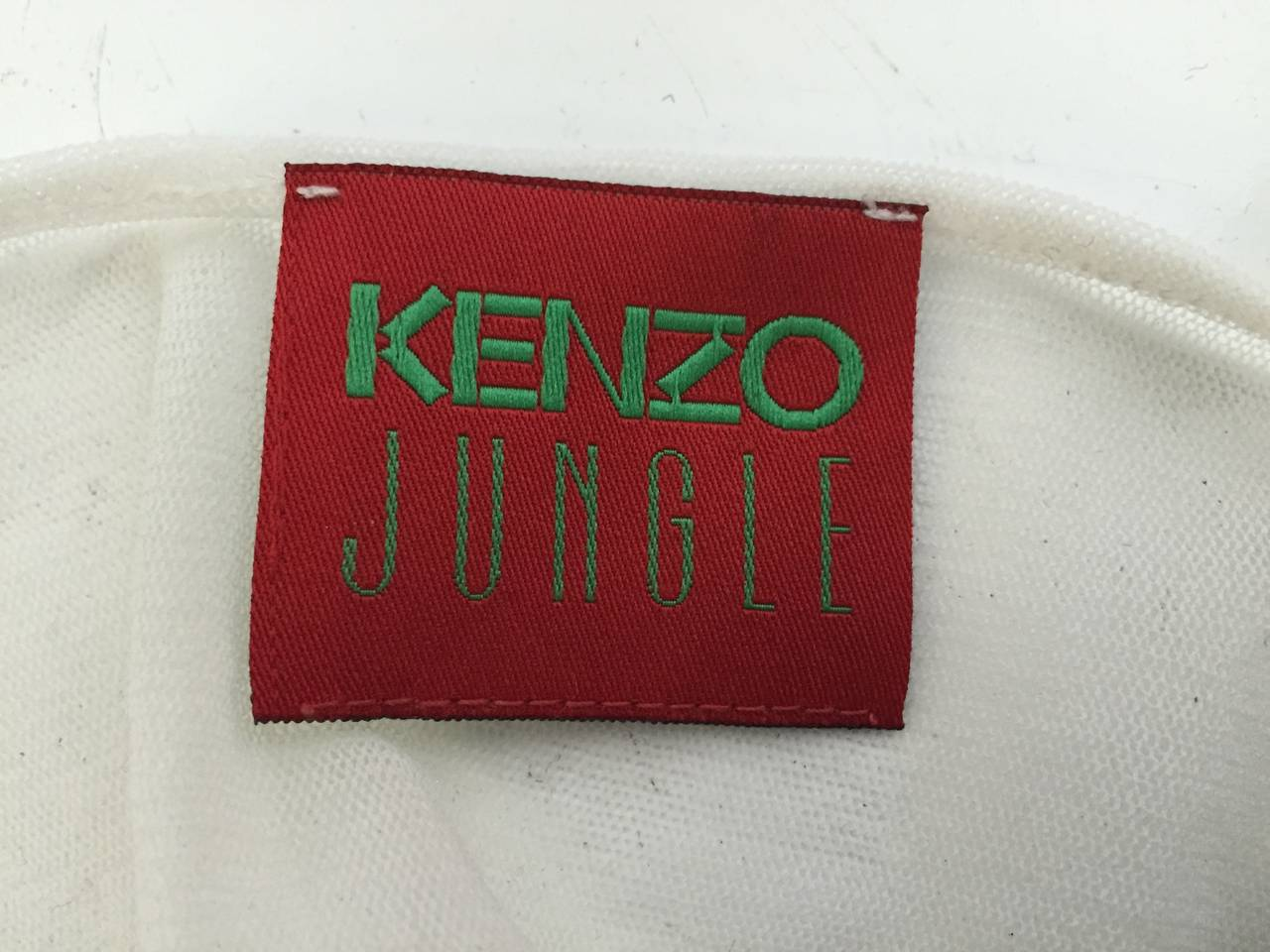 Kenzo Jungle Asian Sheer Long Sleeve Top Size Small. For Sale 5