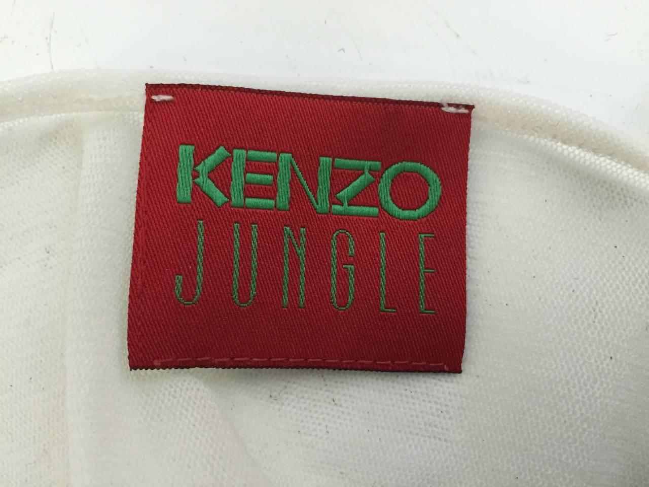Kenzo Jungle Asian sheer long sleeve top size small. 10