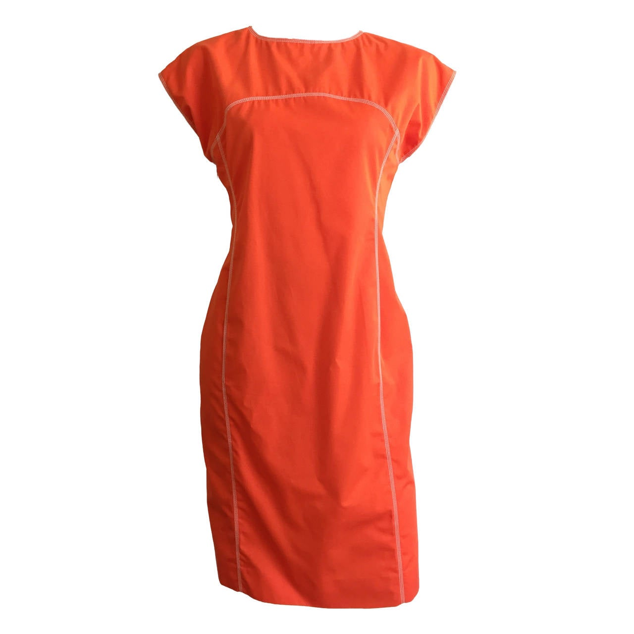Courreges Paris Dress With Pockets Size 8, 1980s For Sale