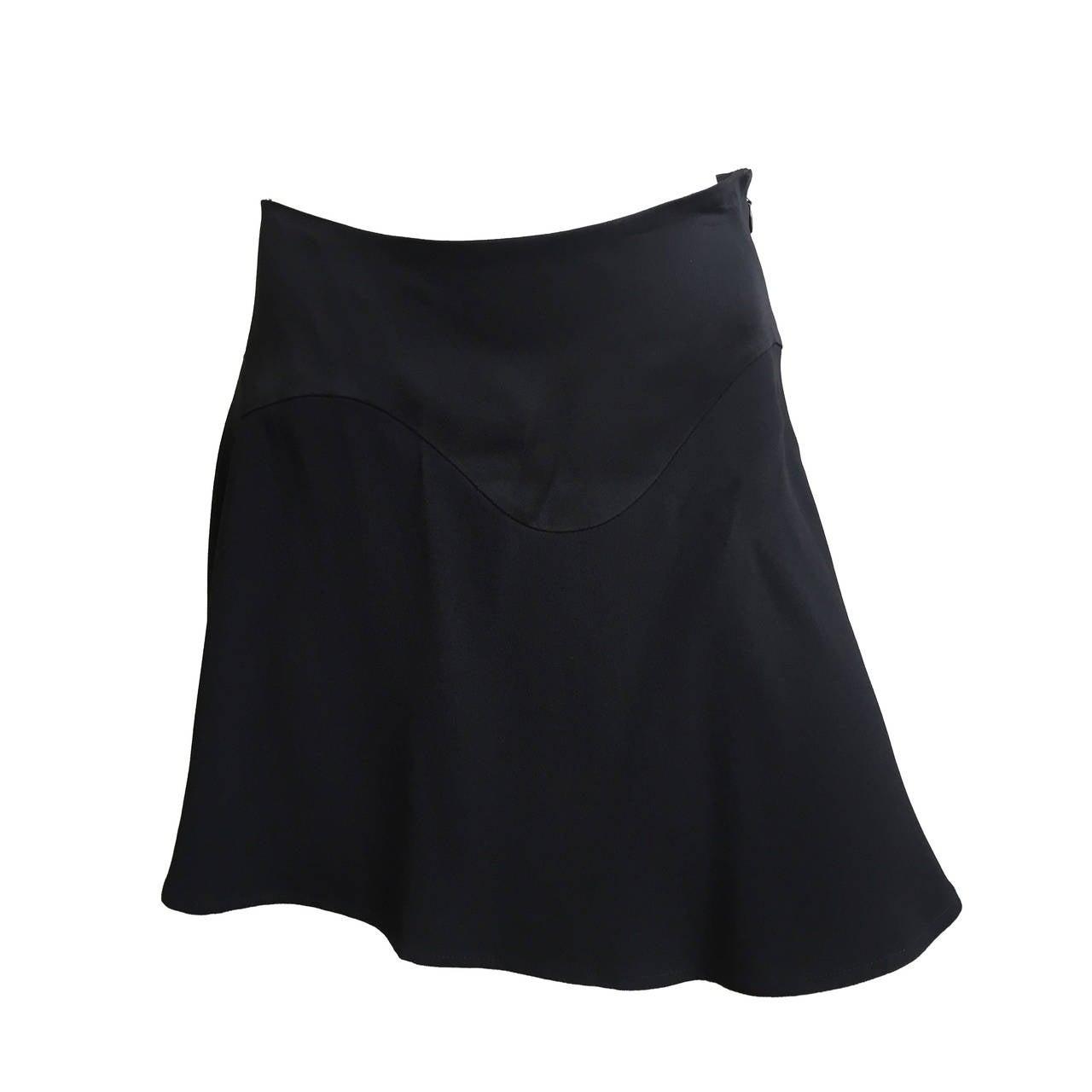 Moschino Black Short Skirt Size 6.