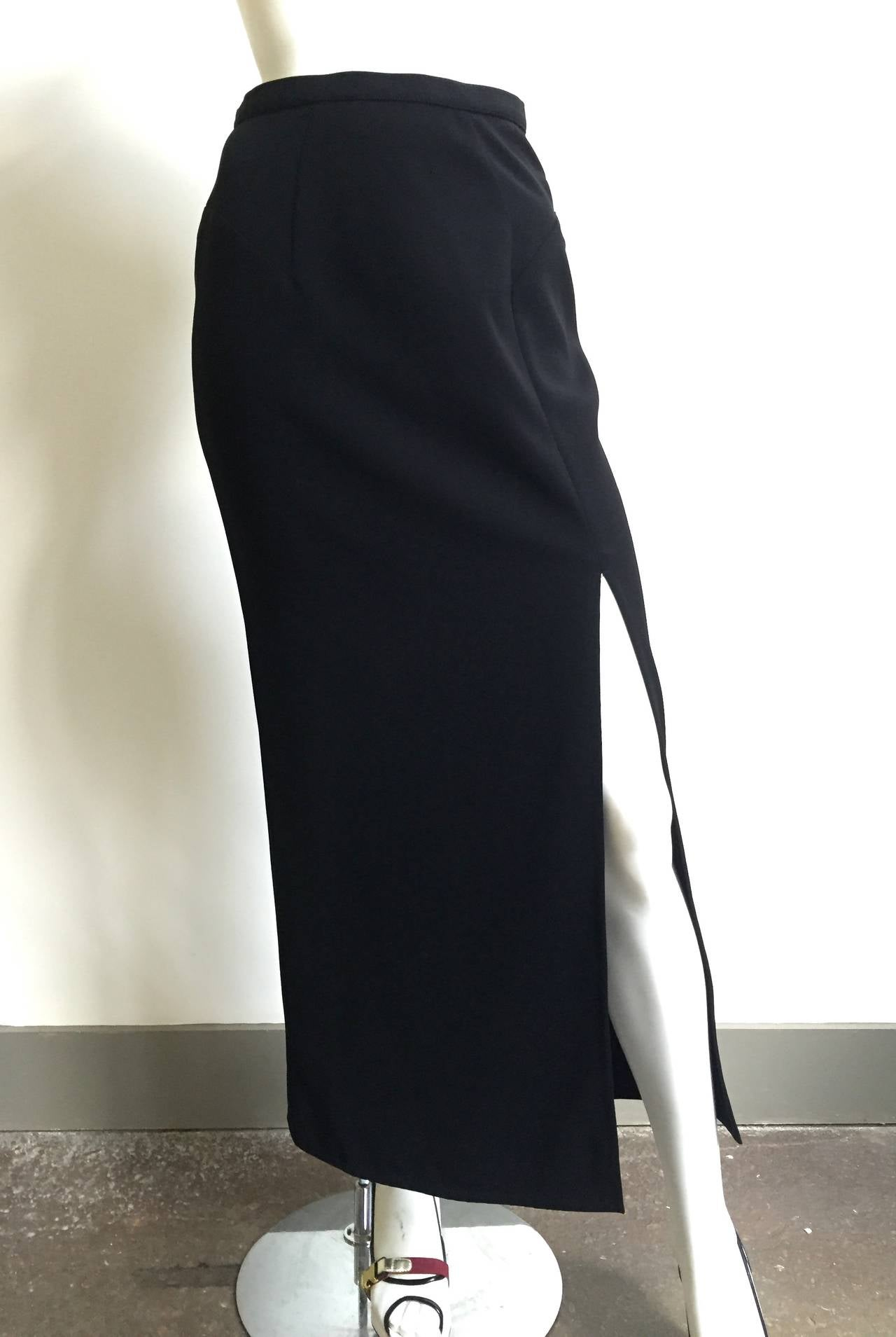 Mugler 90s Black Evening Skirt Size 4. 8