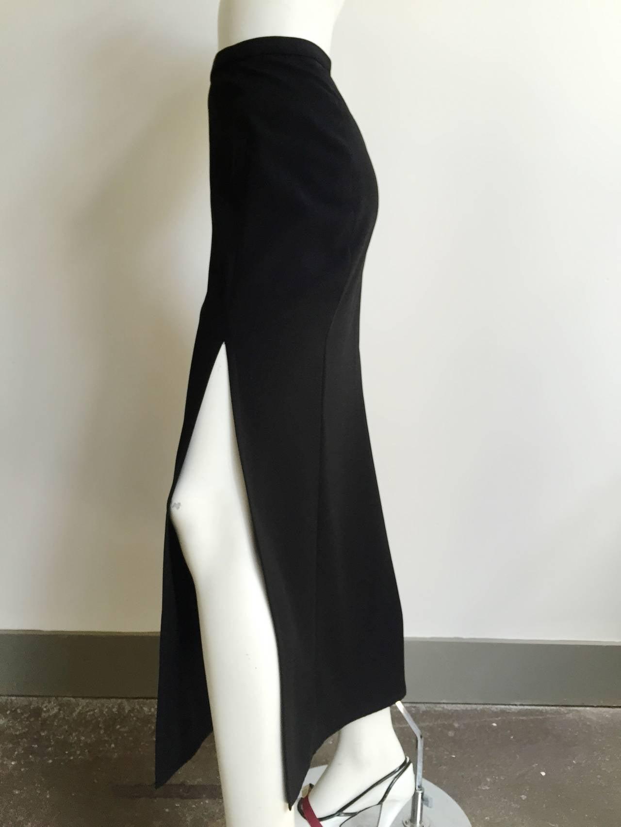 Mugler 90s Black Evening Skirt Size 4. 2