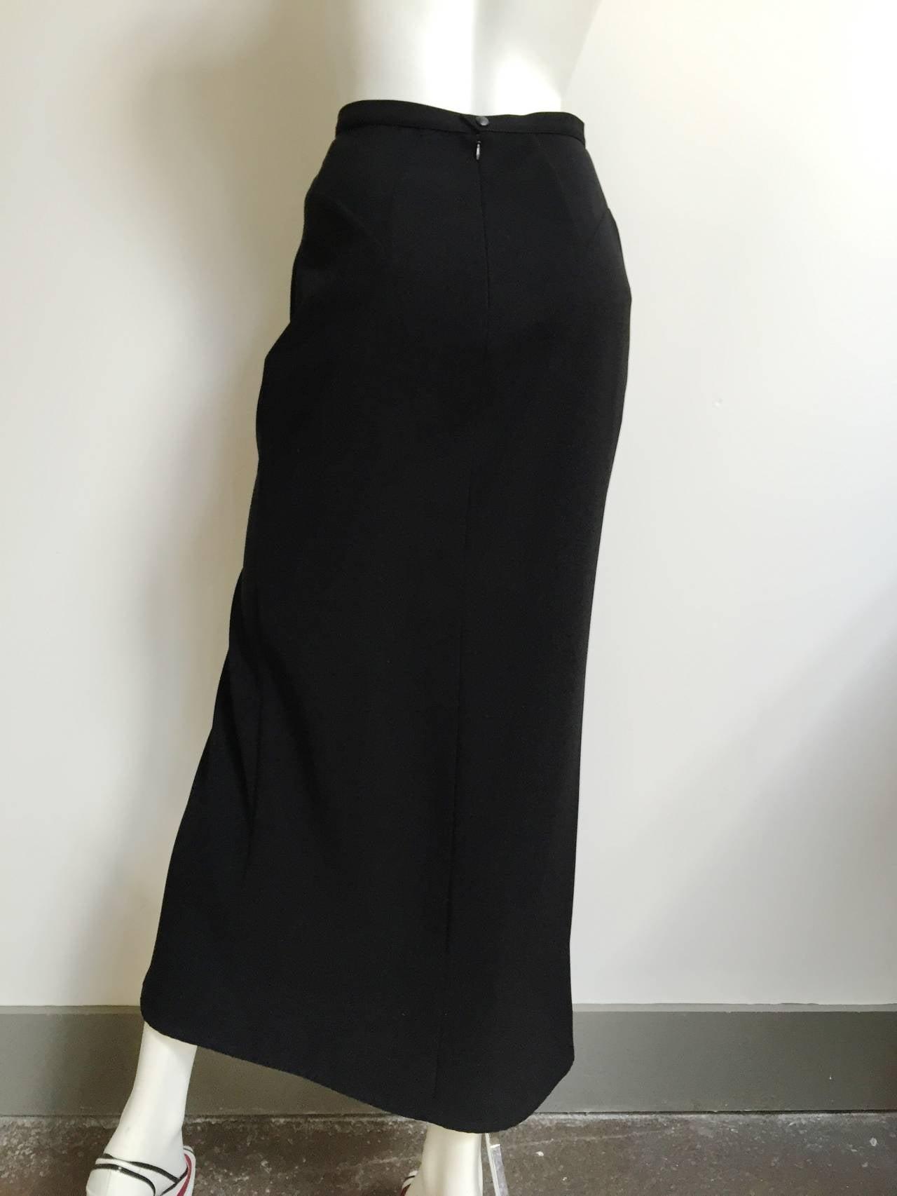Mugler 90s Black Evening Skirt Size 4. 3