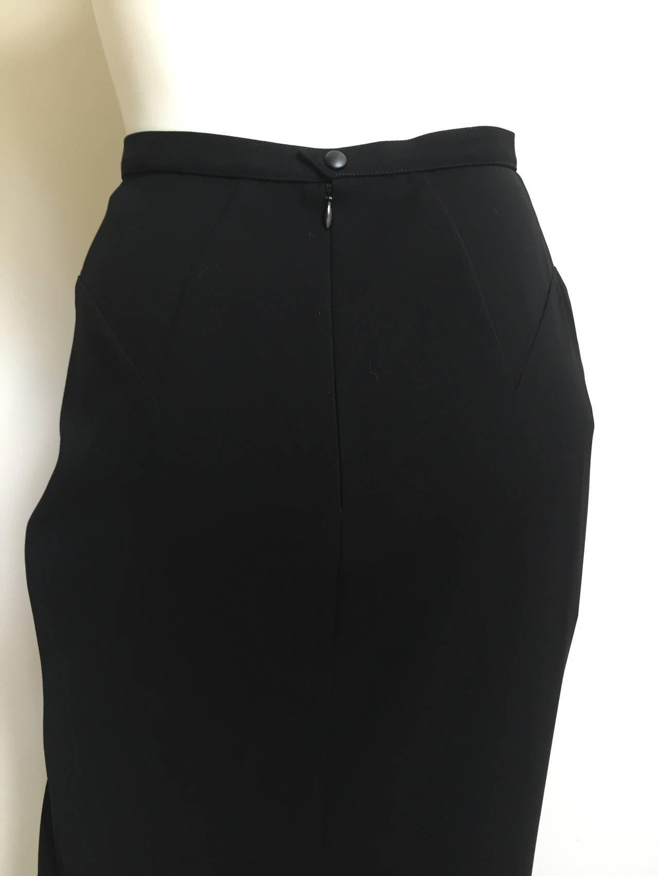 Mugler 90s Black Evening Skirt Size 4. 4
