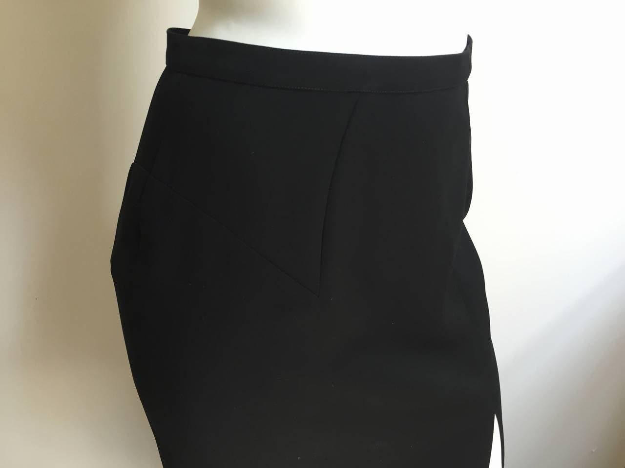 Mugler 90s Black Evening Skirt Size 4. 5