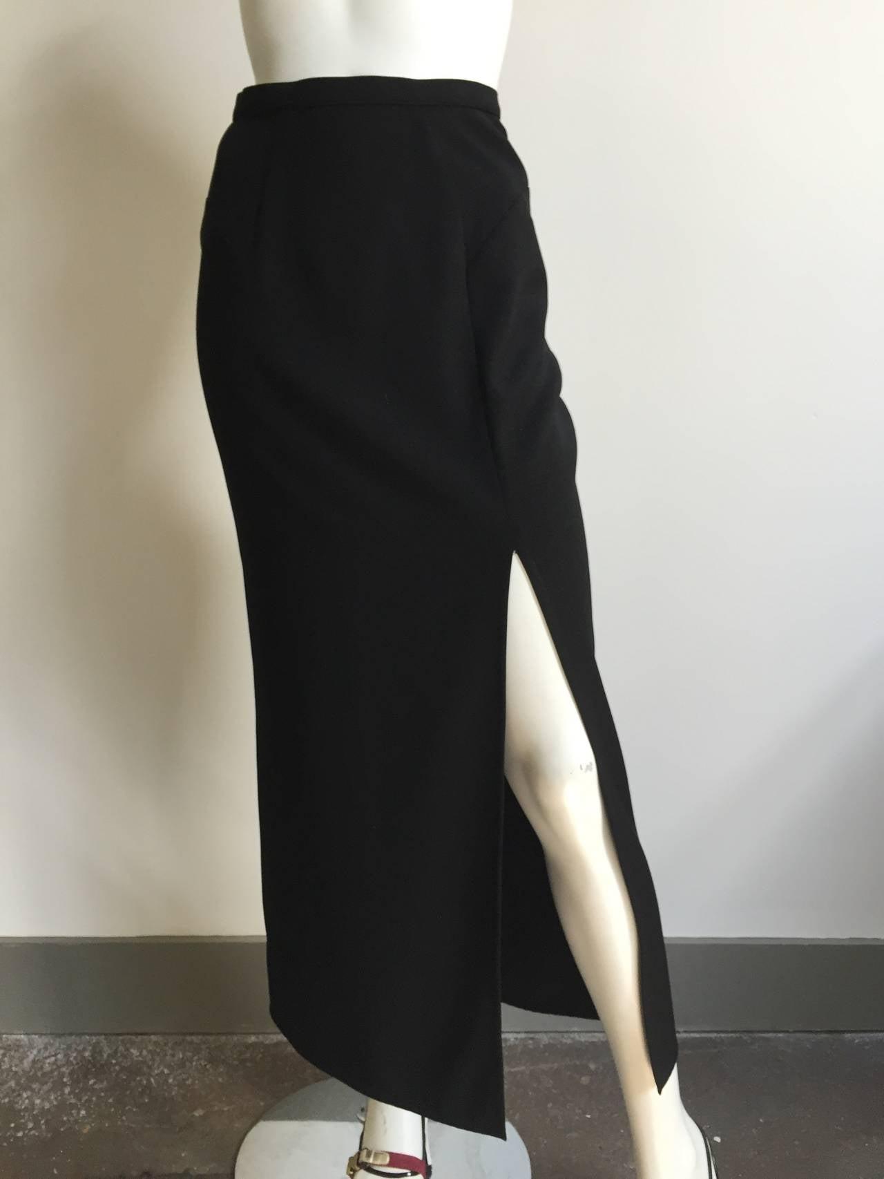 Mugler 90s Black Evening Skirt Size 4. 6