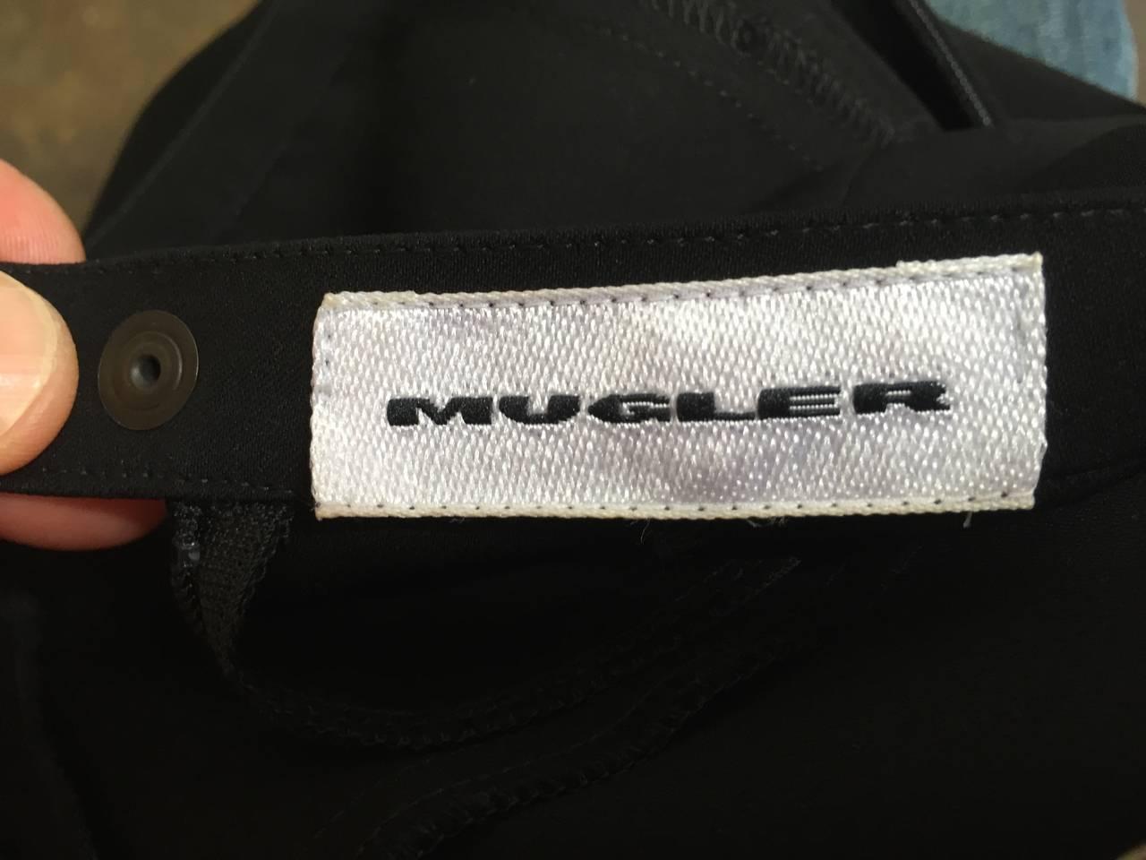 Mugler 90s Black Evening Skirt Size 4. 7
