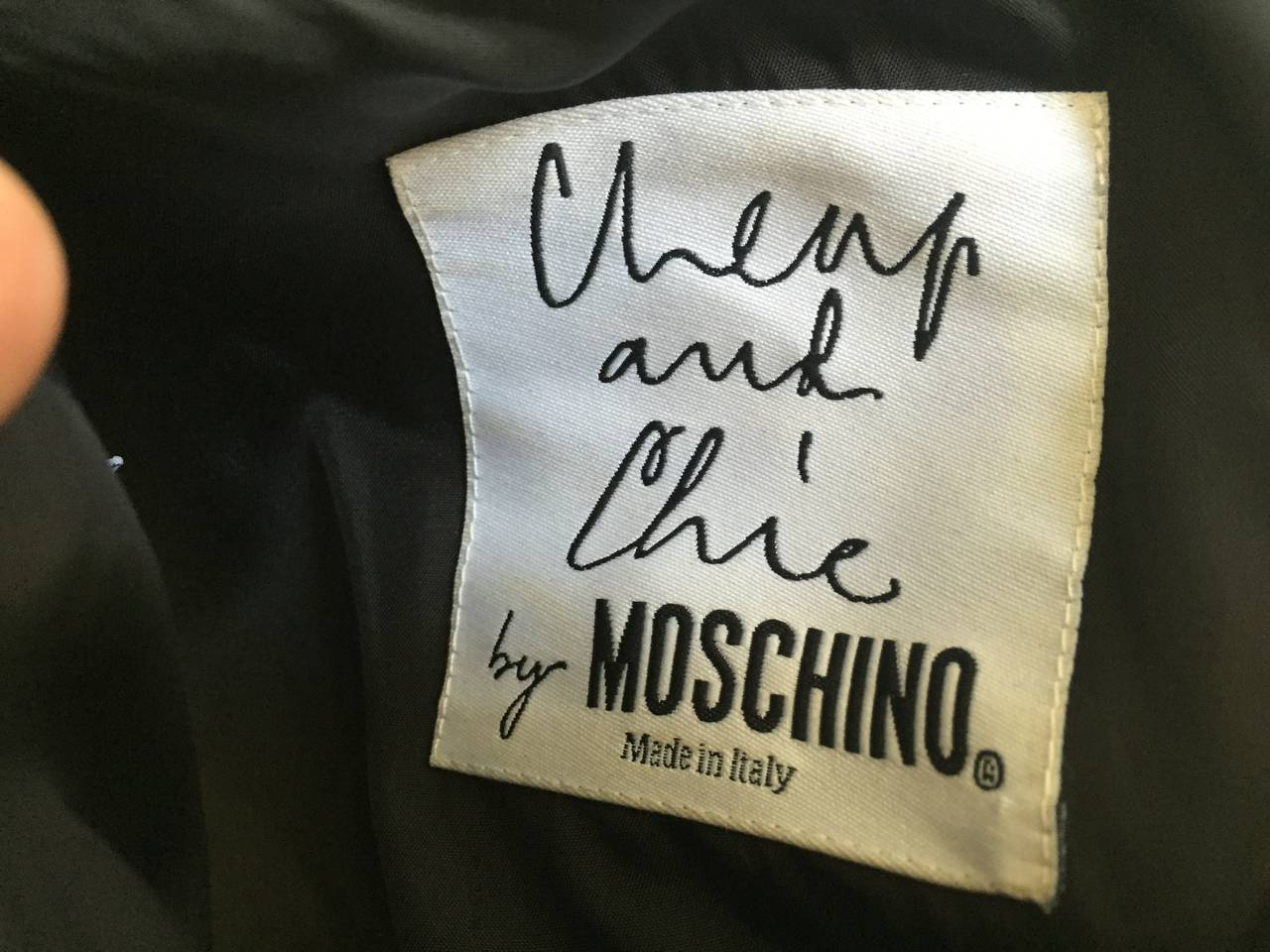 Moschino Black Dress   For Sale 3