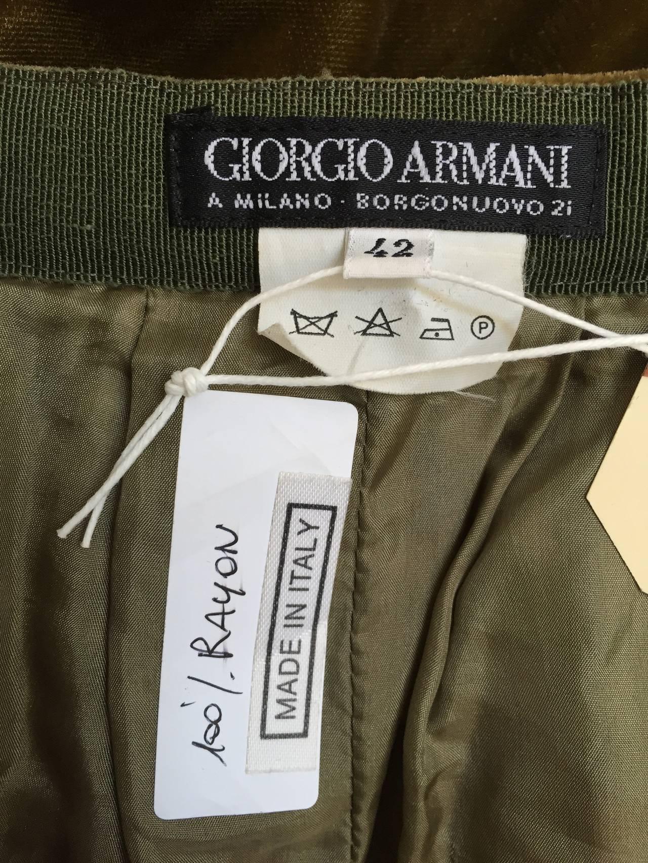Giorgio Armani Velvet Bloomers Size 4. 10