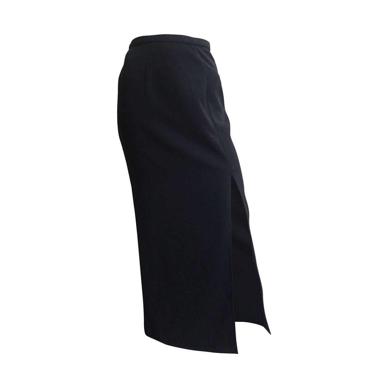 Mugler 90s Black Evening Skirt Size 4. 1
