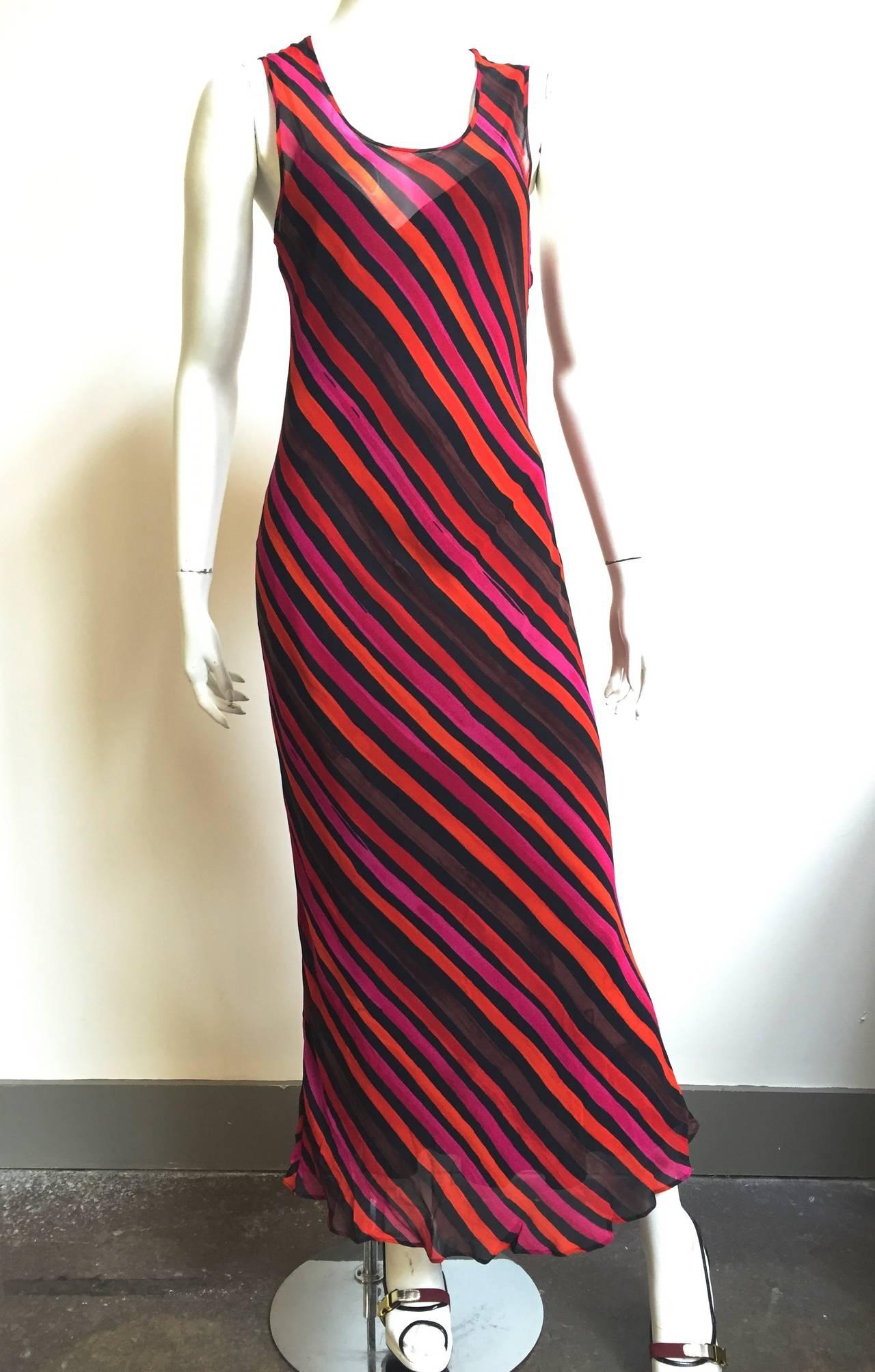 Sonia Rykiel  Striped Dress Size 4 / 6. For Sale 4