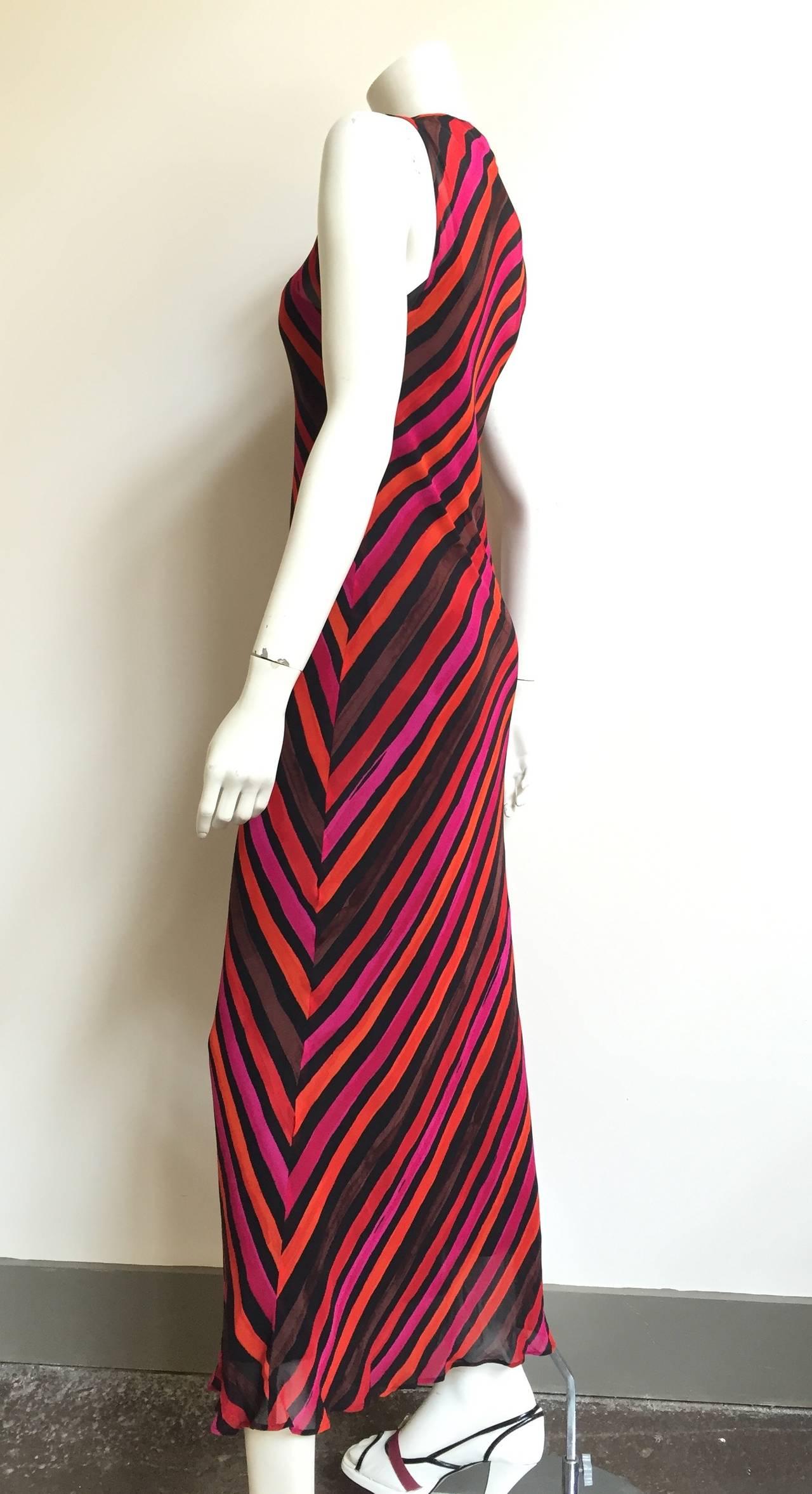 Black Sonia Rykiel  Striped Dress Size 4 / 6. For Sale