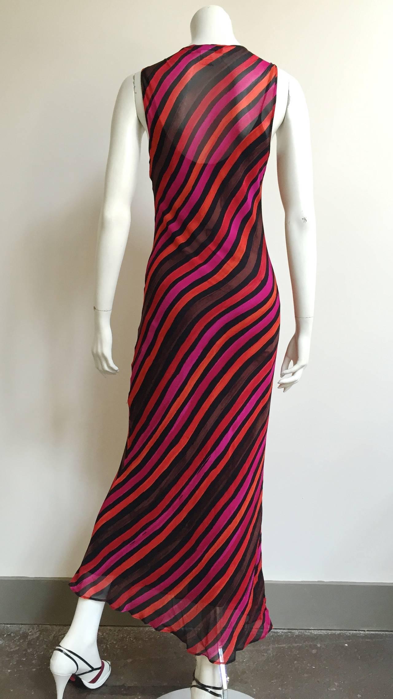 Sonia Rykiel  Striped Dress Size 4 / 6. In Good Condition For Sale In Atlanta, GA