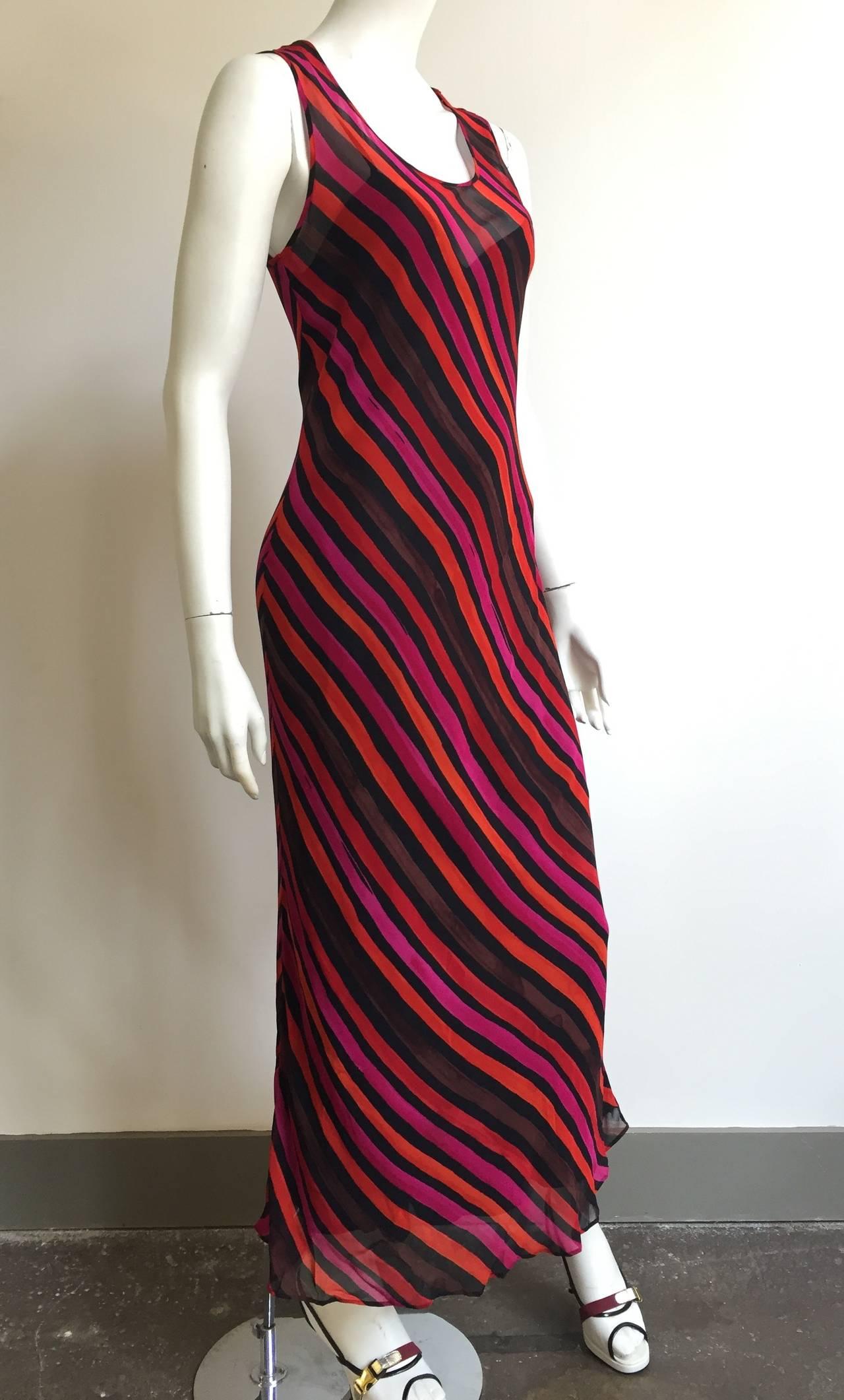 Women's Sonia Rykiel  Striped Dress Size 4 / 6. For Sale