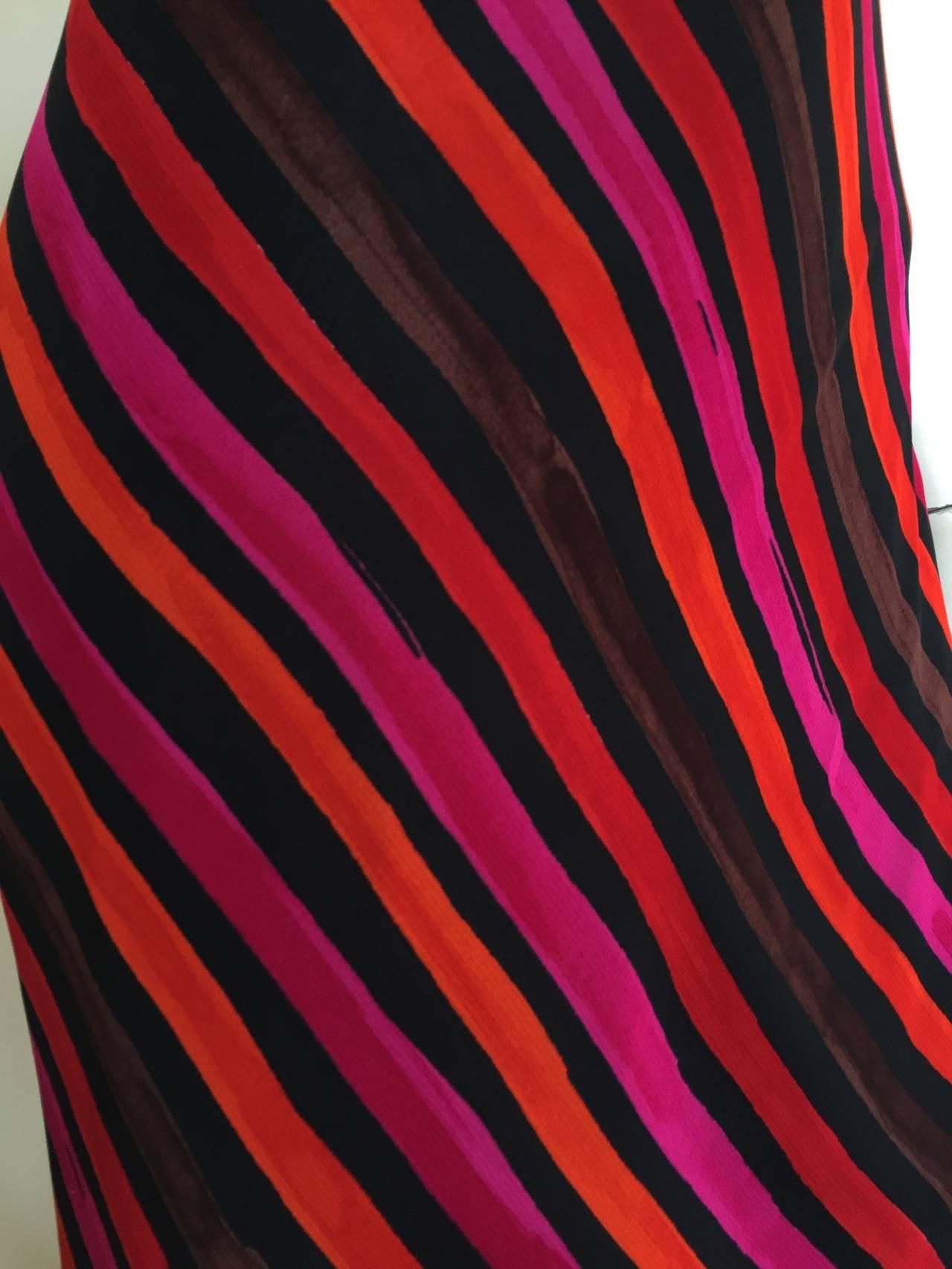 Sonia Rykiel  Striped Dress Size 4 / 6. For Sale 1