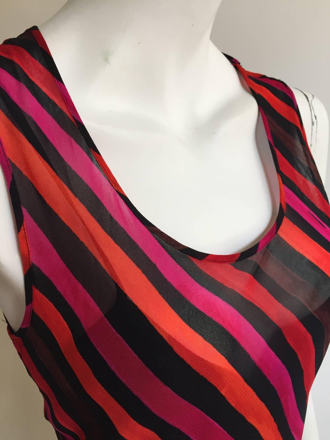 Sonia Rykiel  Striped Dress Size 4 / 6. For Sale 2